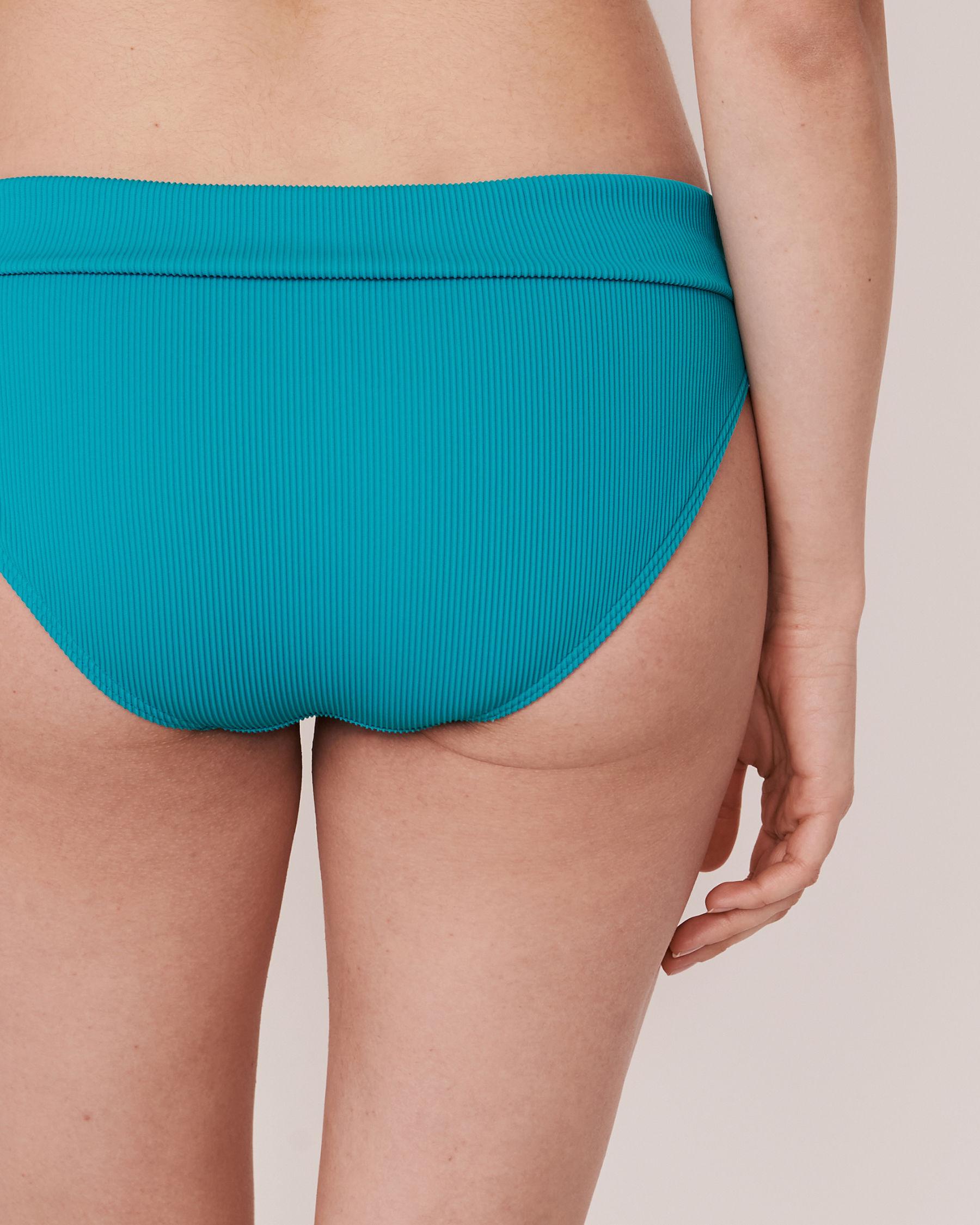 LA VIE EN ROSE AQUA Bas de bikini bande de taille pliable en fibres recyclées TOOTSIE RIB Bleu 70300063 - Voir2