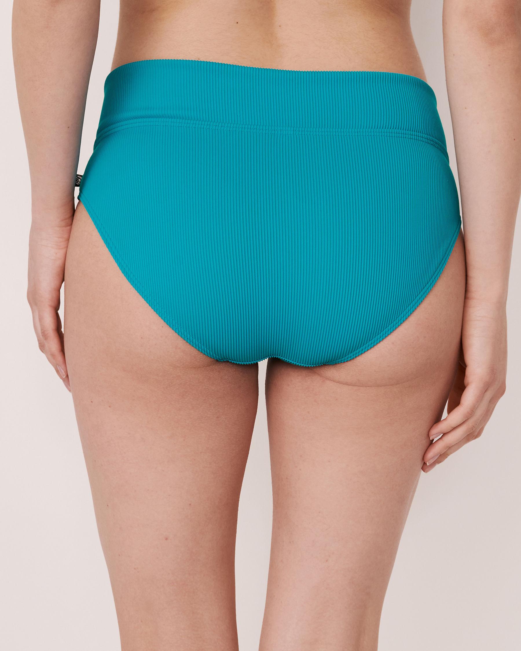 LA VIE EN ROSE AQUA Bas de bikini bande de taille pliable en fibres recyclées TOOTSIE RIB Bleu 70300063 - Voir4