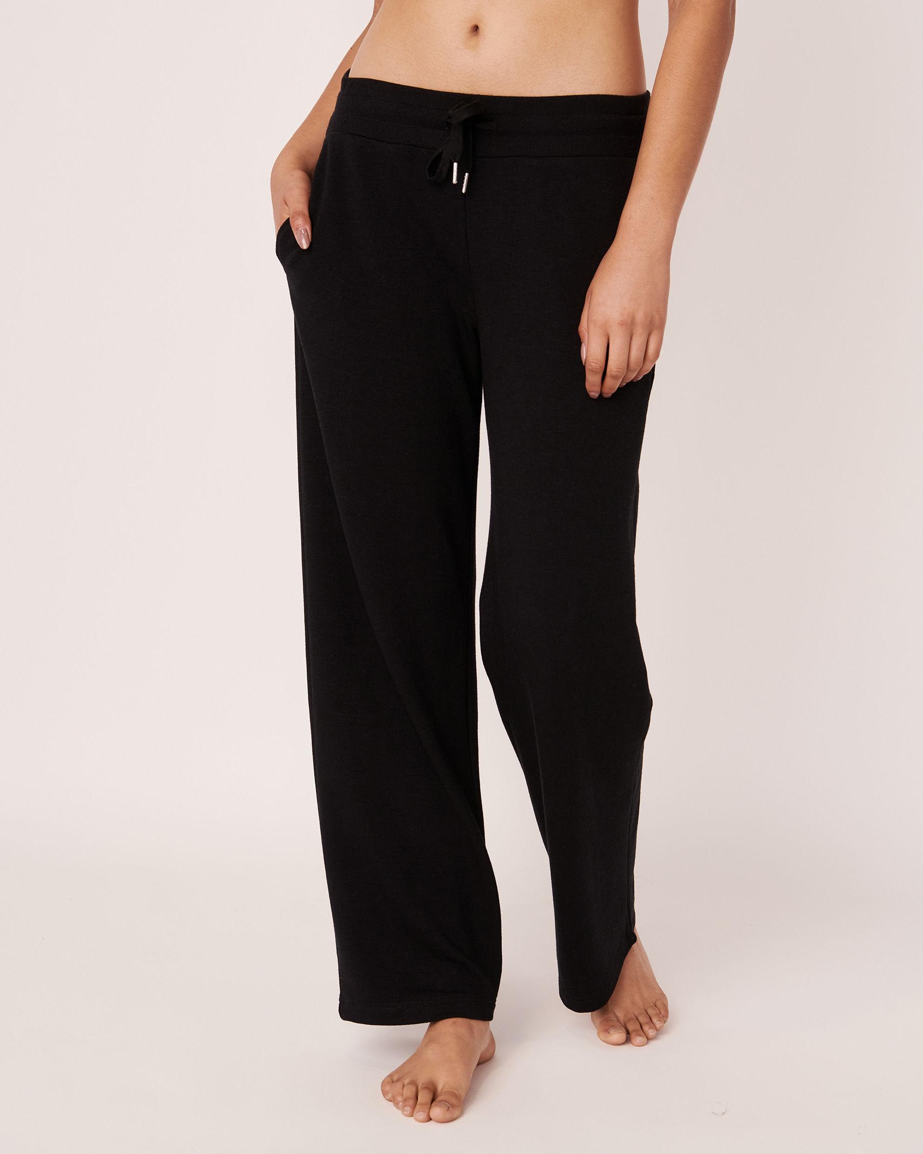 LA VIE EN ROSE Pantalon jambe large Noir 50200014 - Voir1