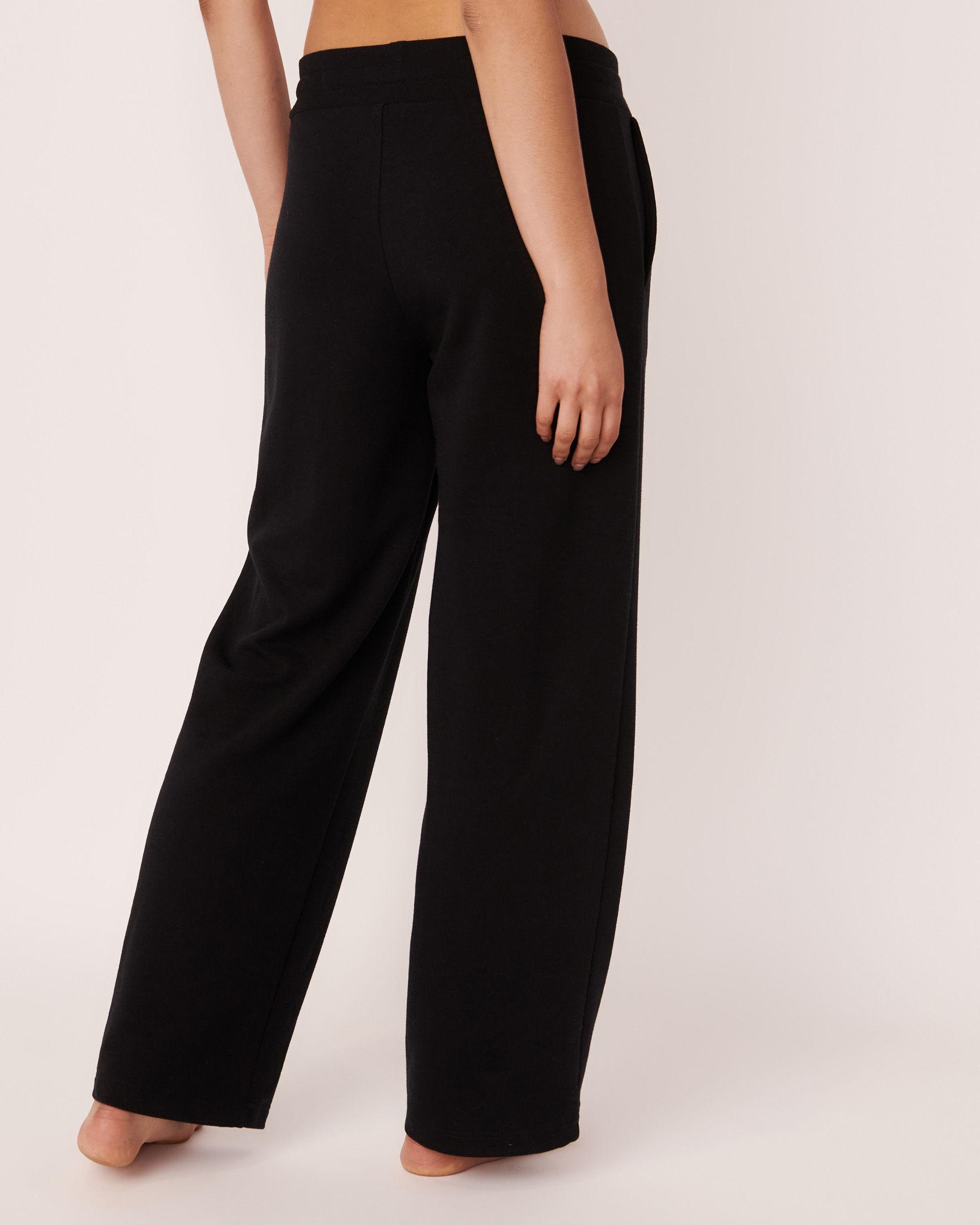 LA VIE EN ROSE Pantalon jambe large Noir 50200014 - Voir2