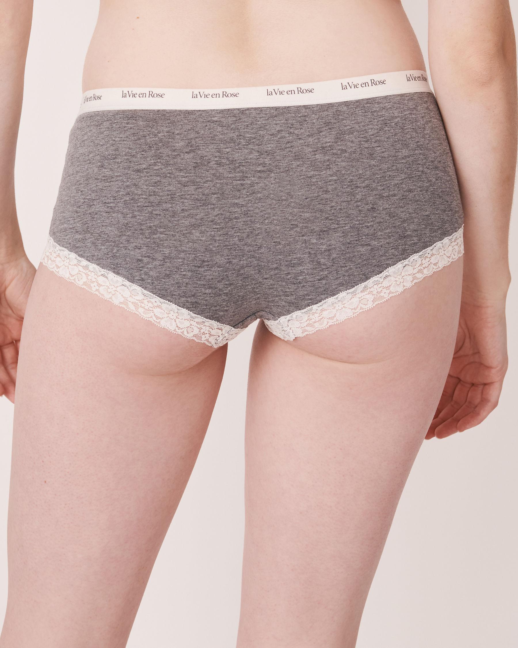 LA VIE EN ROSE Faux Buttonholes Boyleg Panty Grey 179-213-0-00 - View2