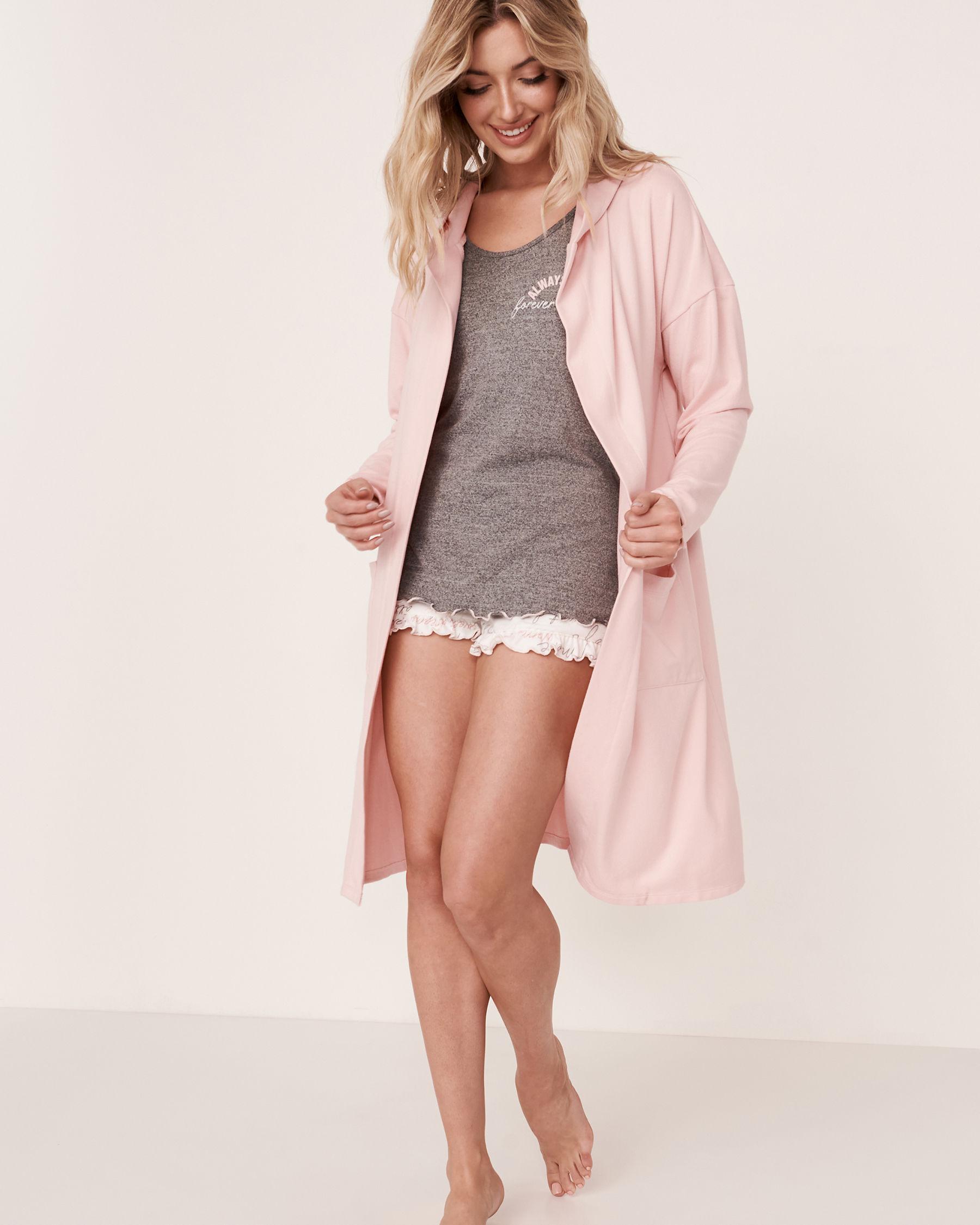LA VIE EN ROSE Recycled Fibers Hooded Cardigan Light pink 40600024 - View1