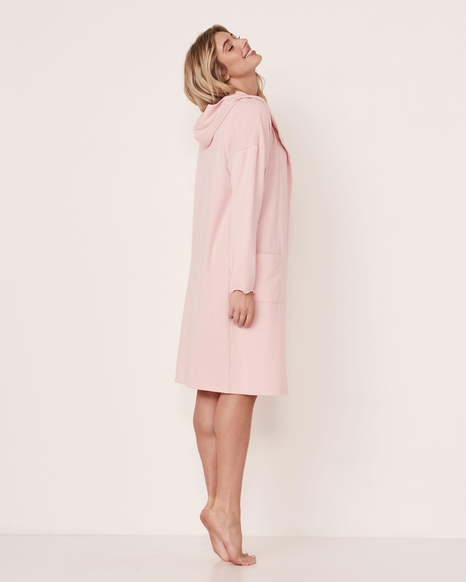 LA VIE EN ROSE Recycled Fibers Hooded Cardigan Light pink 40600024 - View2