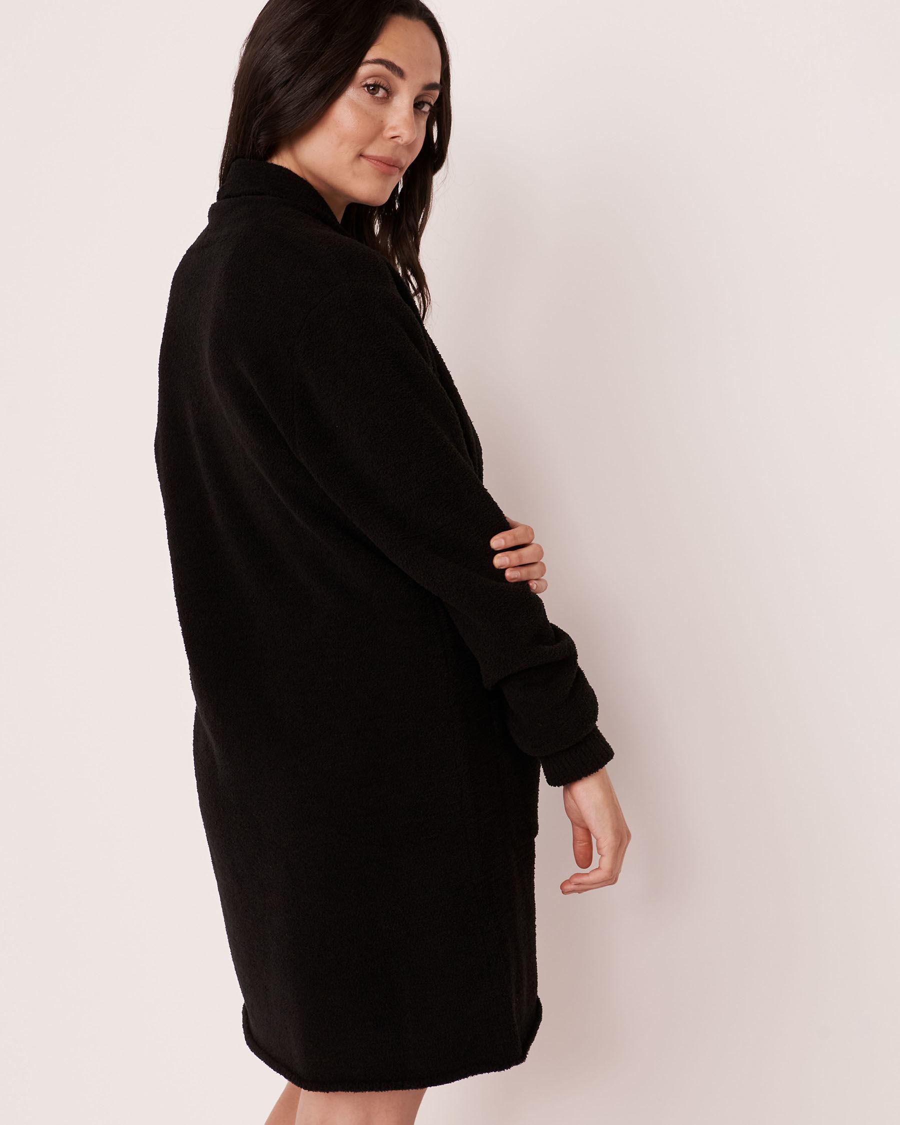 LA VIE EN ROSE Cardigan en chenille Noir 50500001 - Voir2