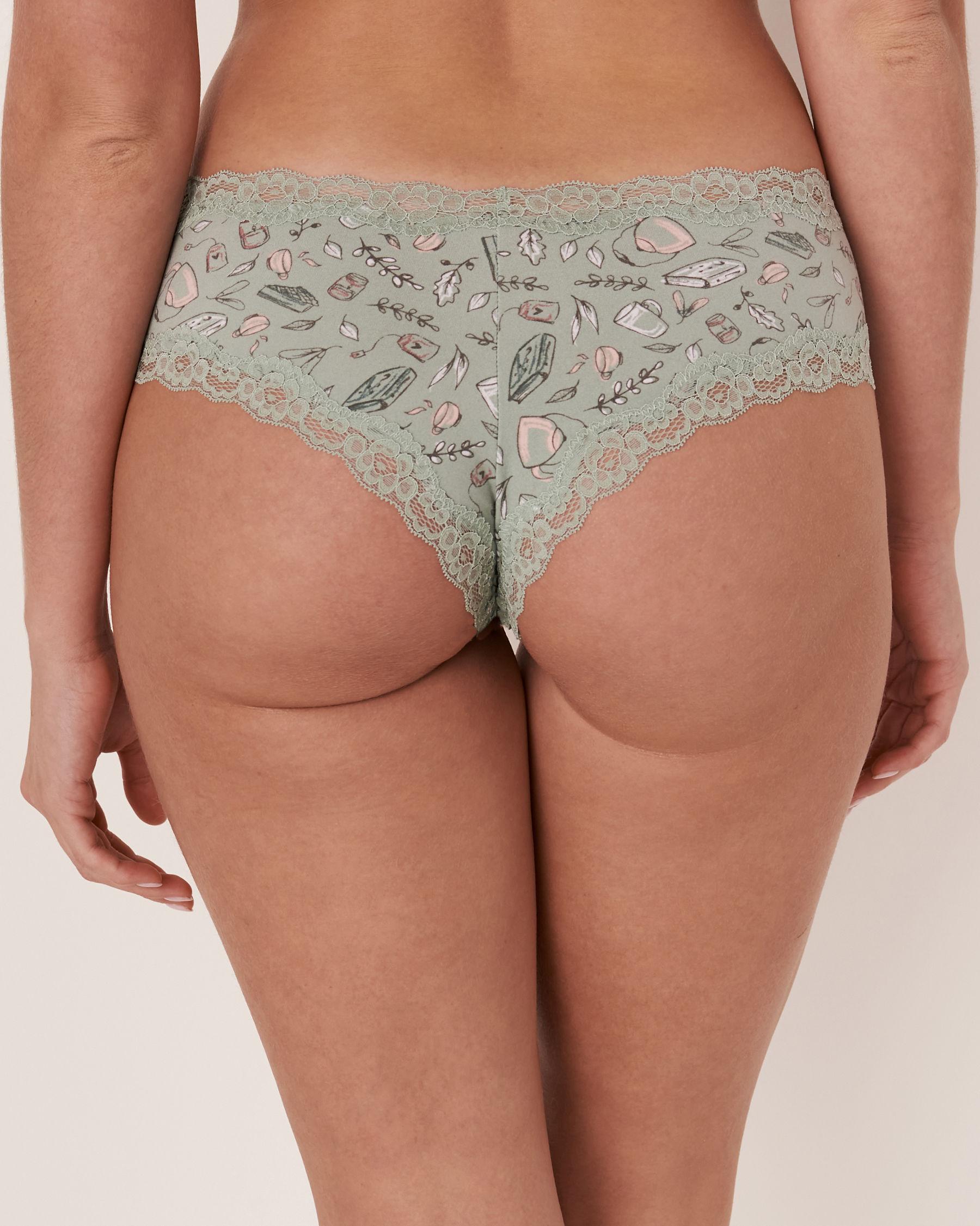 LA VIE EN ROSE Cheeky Panty Fall print 20100058 - View2