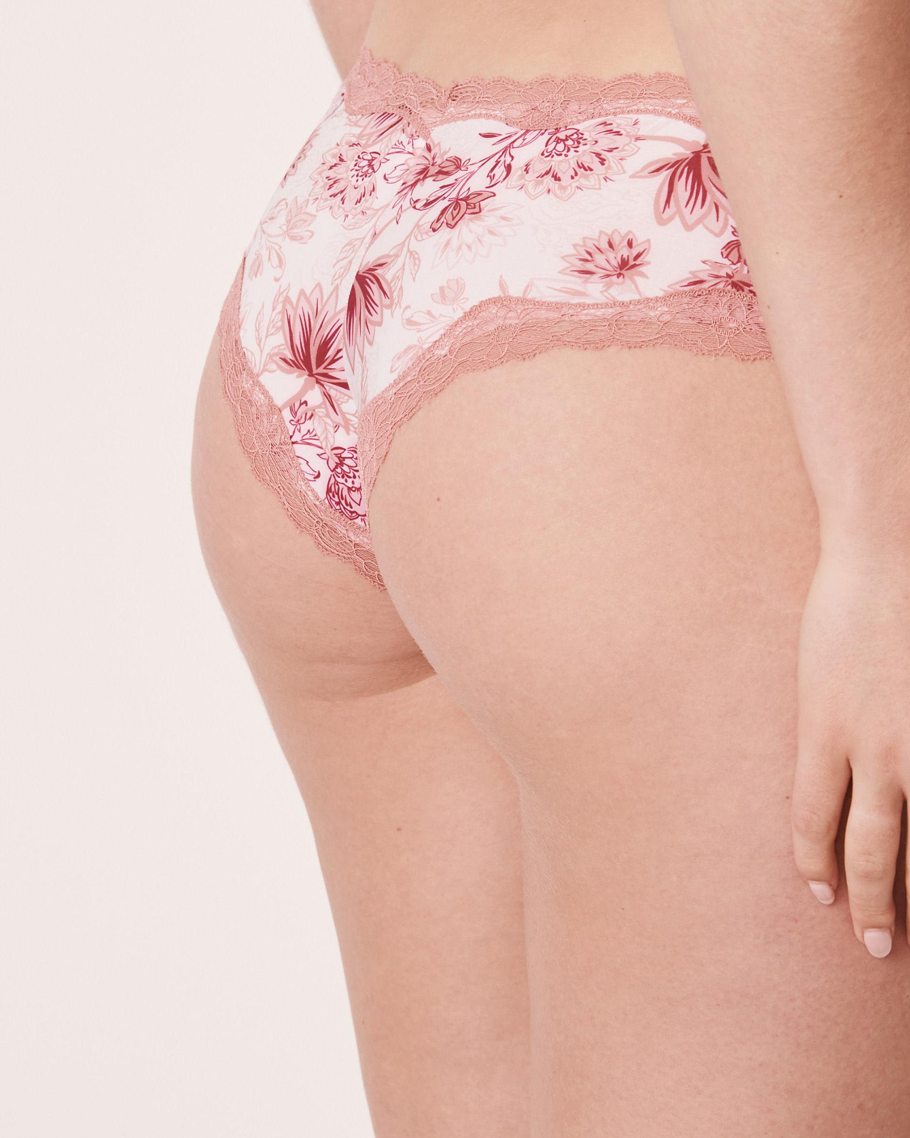 LA VIE EN ROSE Cheeky Panty Pink flowers 20200046 - View2
