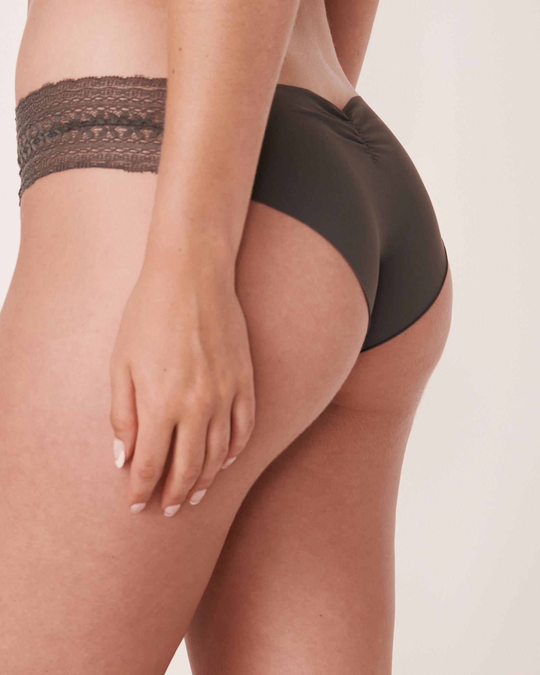 LA VIE EN ROSE Seamless Cheeky Panty Charcoal 20200065 - View2