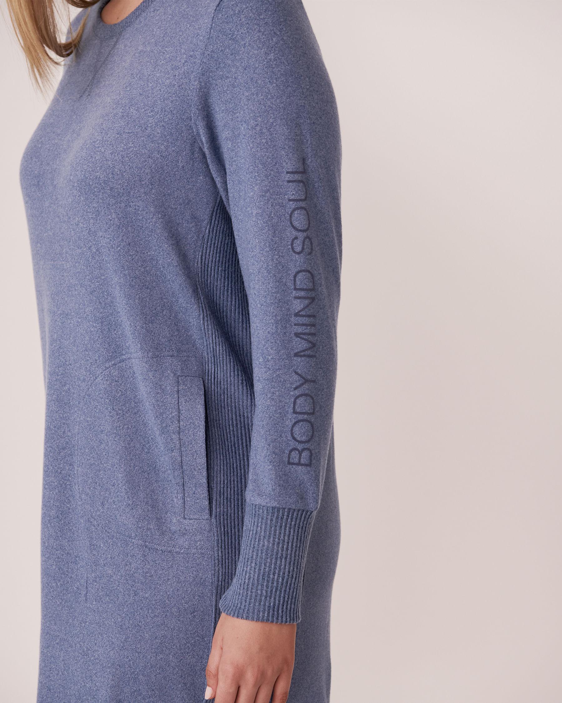 LA VIE EN ROSE Robe manches longues en tricot doux Mélange bleu jeans 50400006 - Voir2