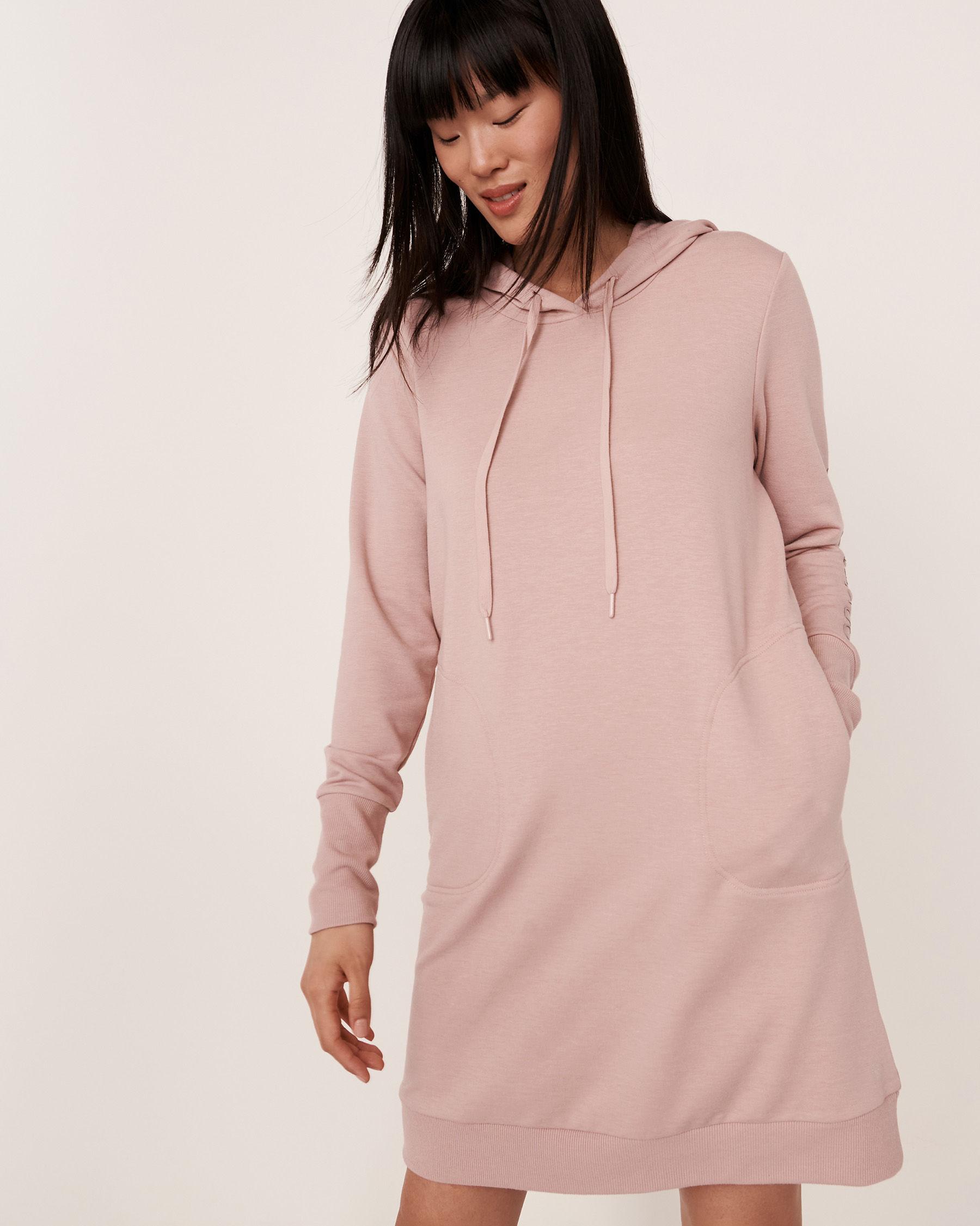 LA VIE EN ROSE Robe manches longues à capuchon Ombre grise 50400007 - Voir2