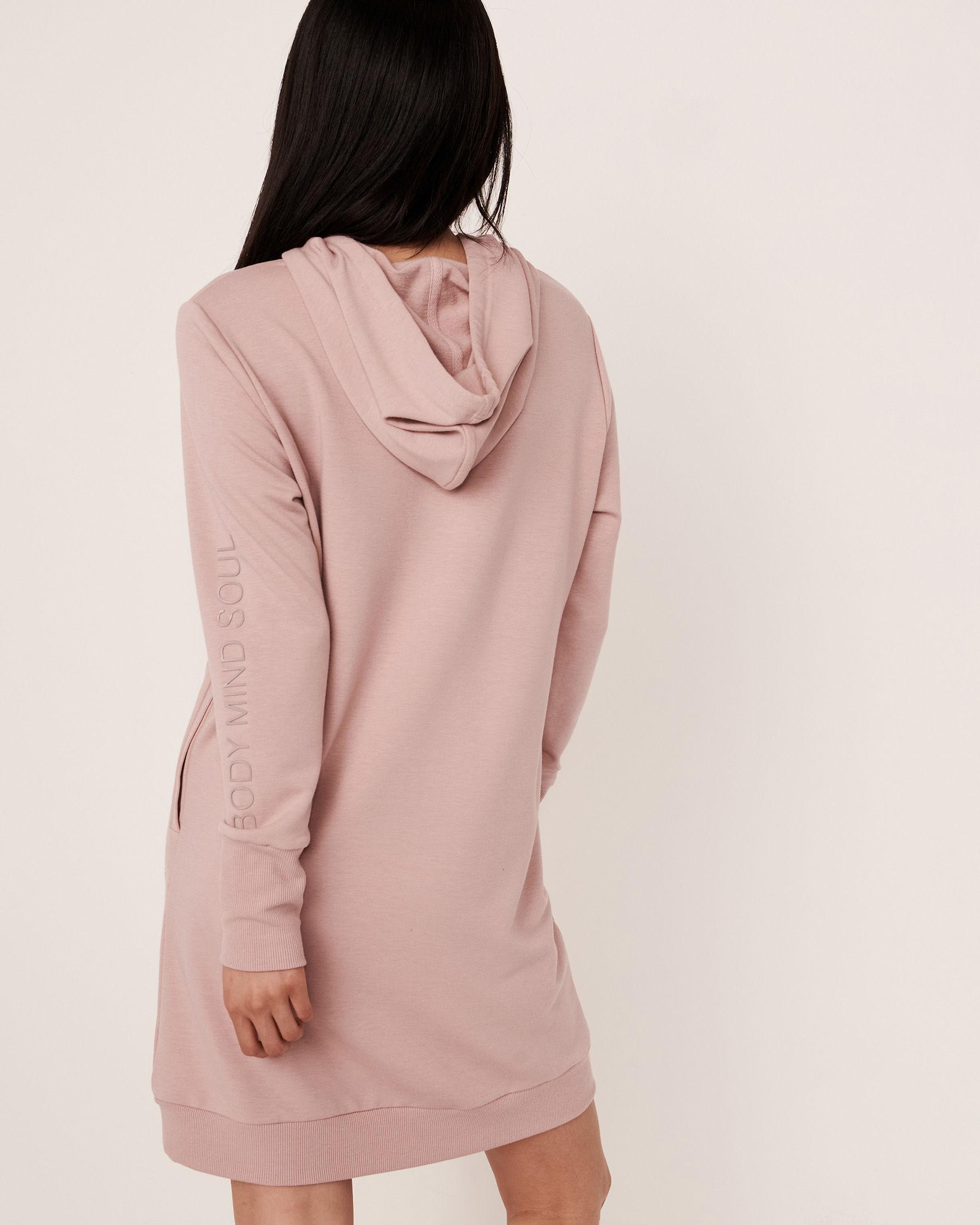 LA VIE EN ROSE Robe manches longues à capuchon Ombre grise 50400007 - Voir3