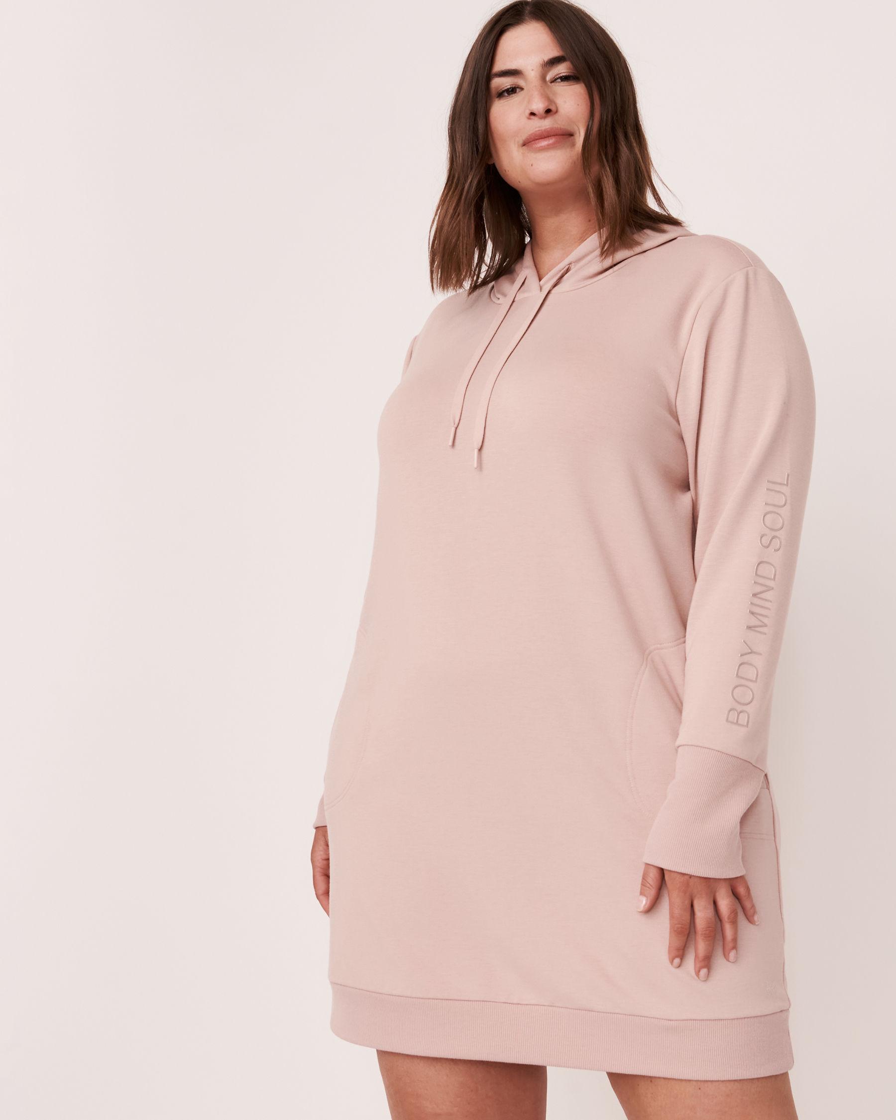 LA VIE EN ROSE Robe manches longues à capuchon Ombre grise 50400007 - Voir4