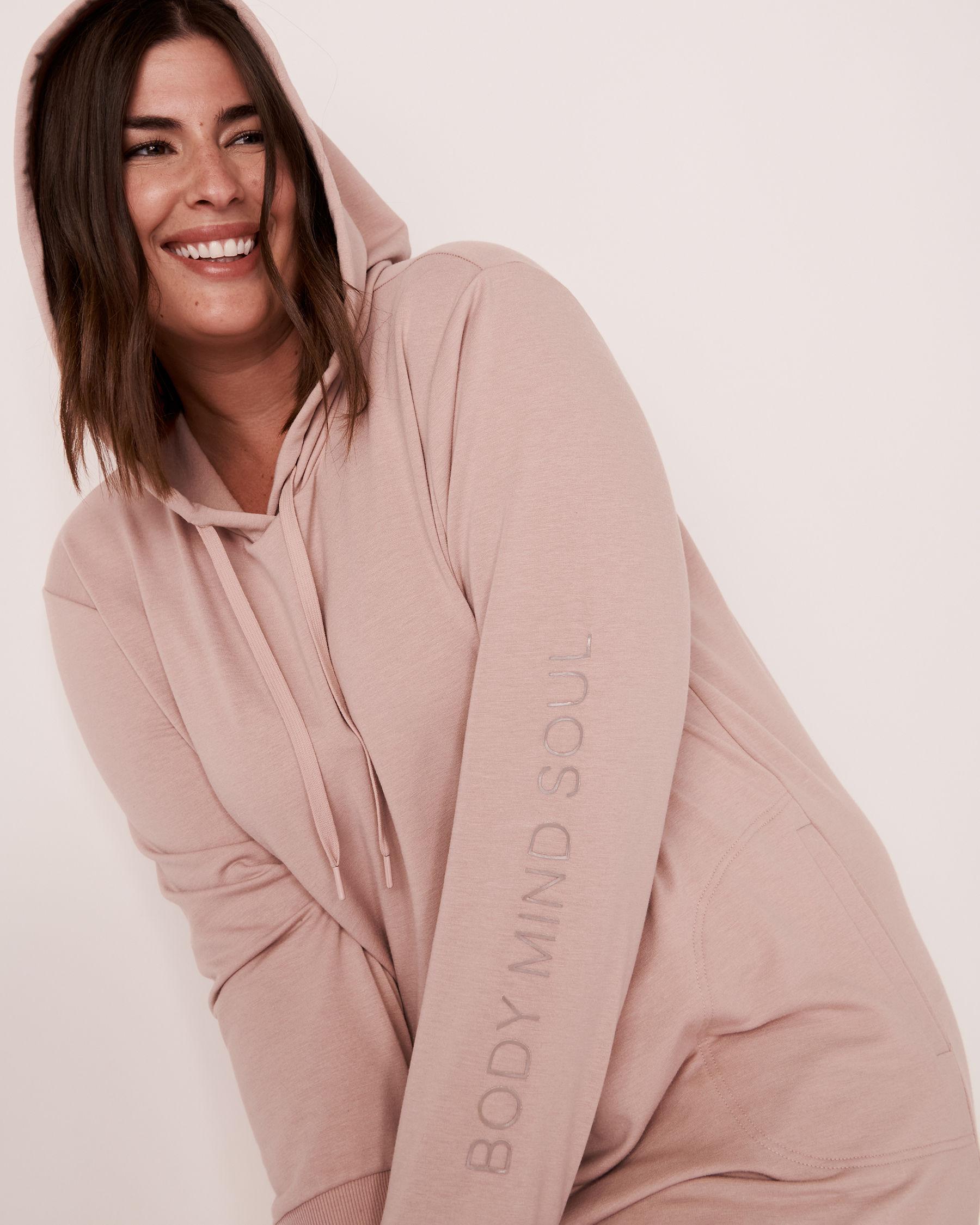 LA VIE EN ROSE Robe manches longues à capuchon Ombre grise 50400007 - Voir5