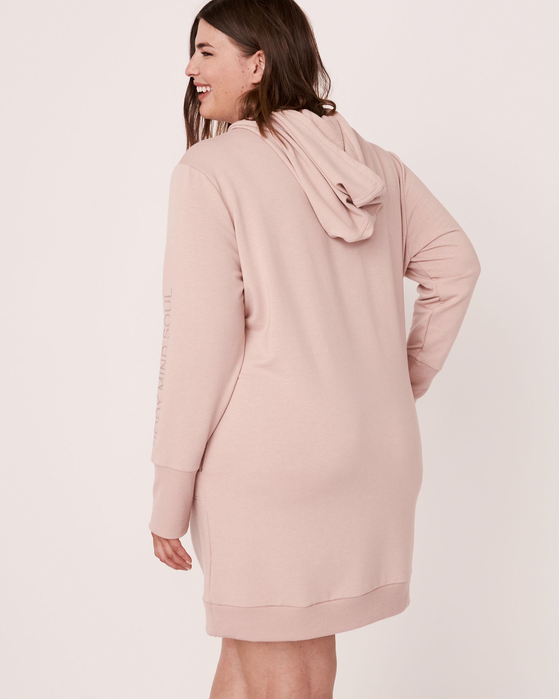 LA VIE EN ROSE Robe manches longues à capuchon Ombre grise 50400007 - Voir6