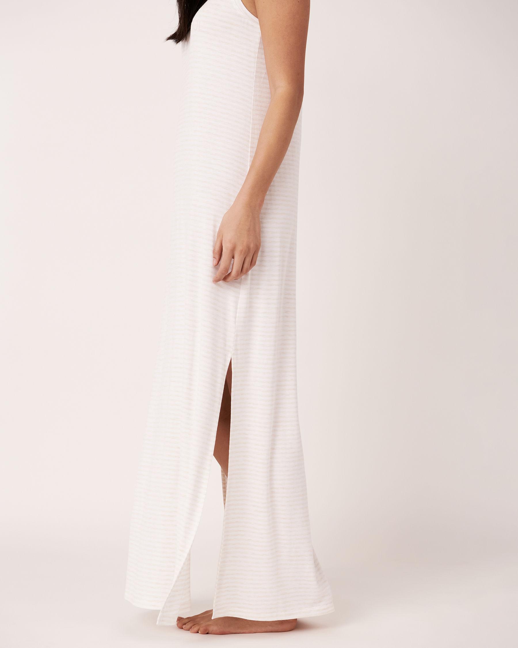 LA VIE EN ROSE Sleeveless Maxi Dress Grey and white stripes 50400001 - View3