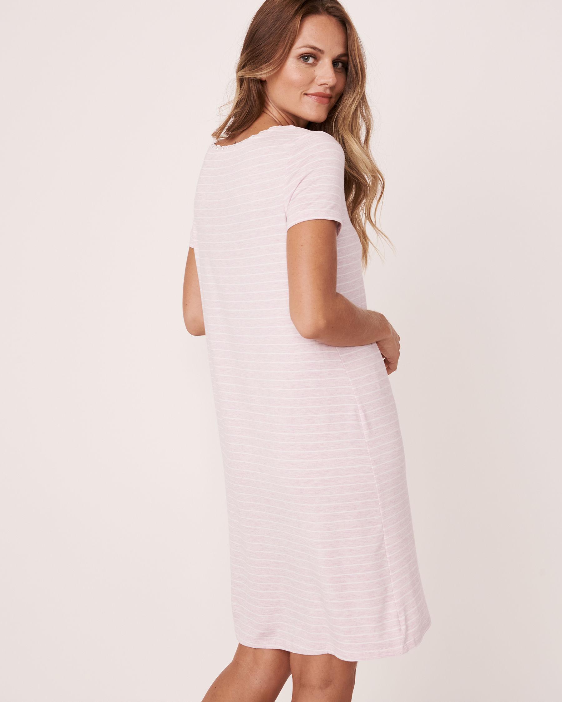 LA VIE EN ROSE Henley Sleepshirt Stripes 50400004 - View2