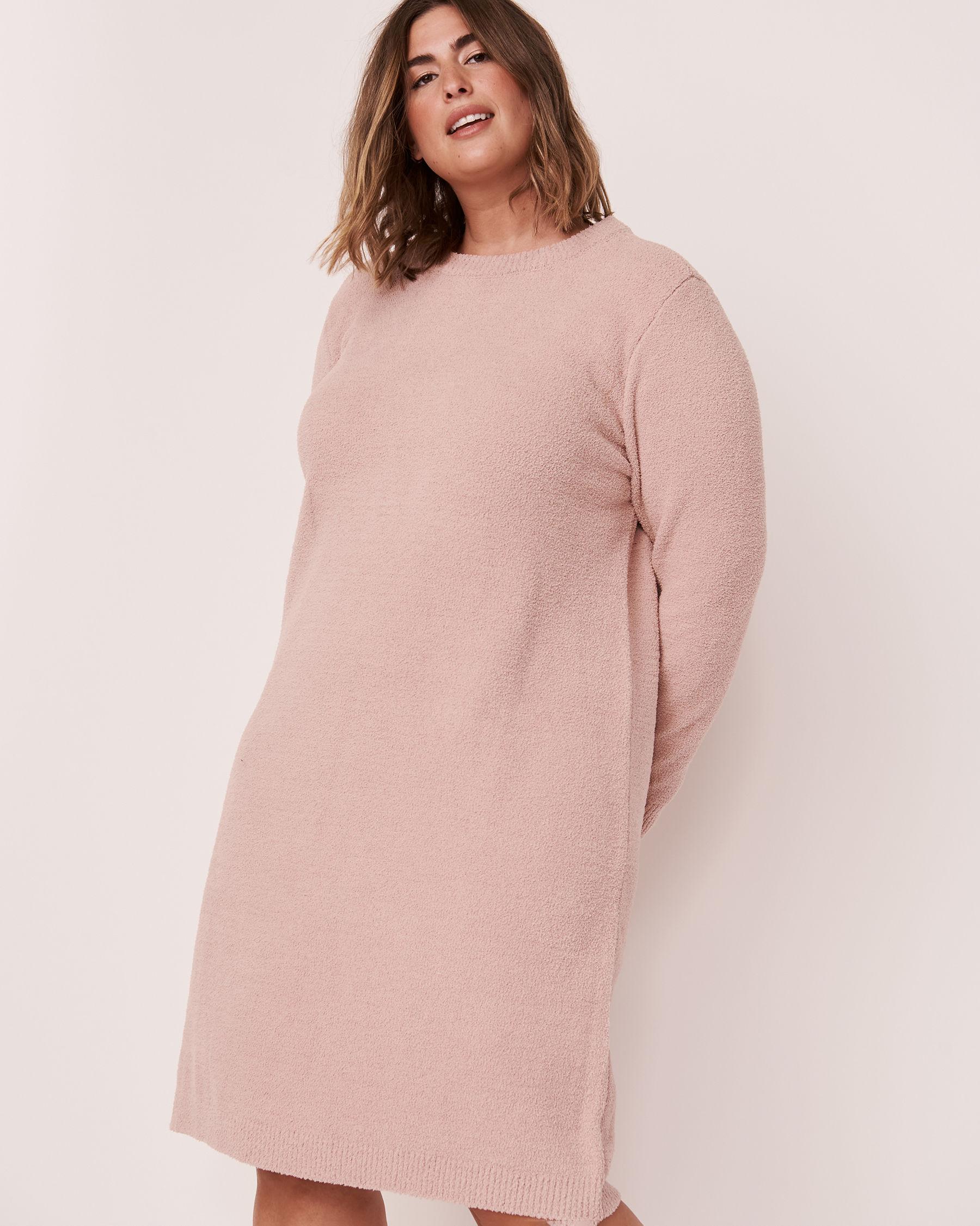 LA VIE EN ROSE Chenille Long Sleeve Dress Shadow grey 50400011 - View1