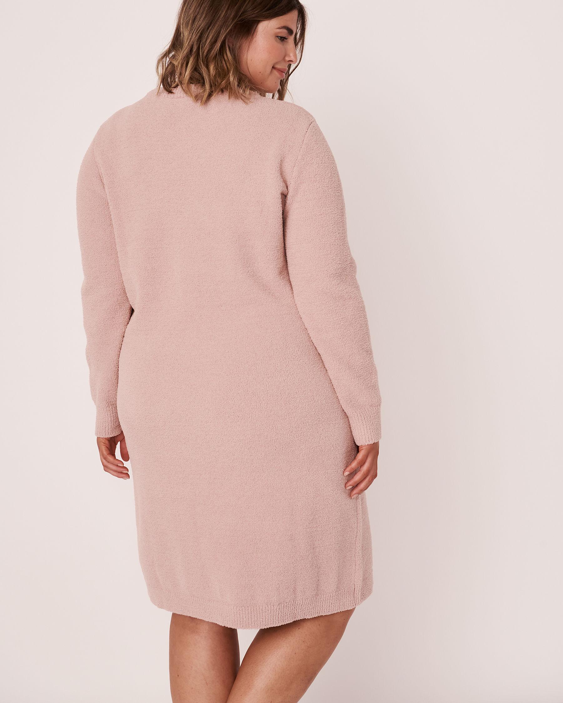 LA VIE EN ROSE Chenille Long Sleeve Dress Shadow grey 50400011 - View3