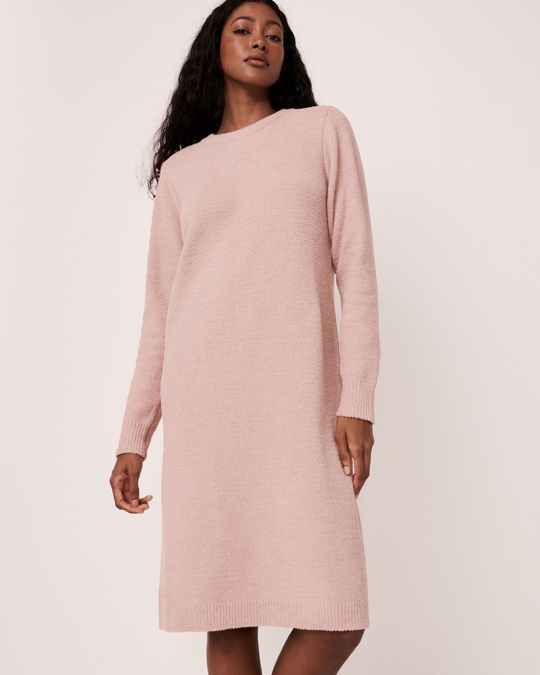 LA VIE EN ROSE Chenille Long Sleeve Dress Shadow grey 50400011 - View5