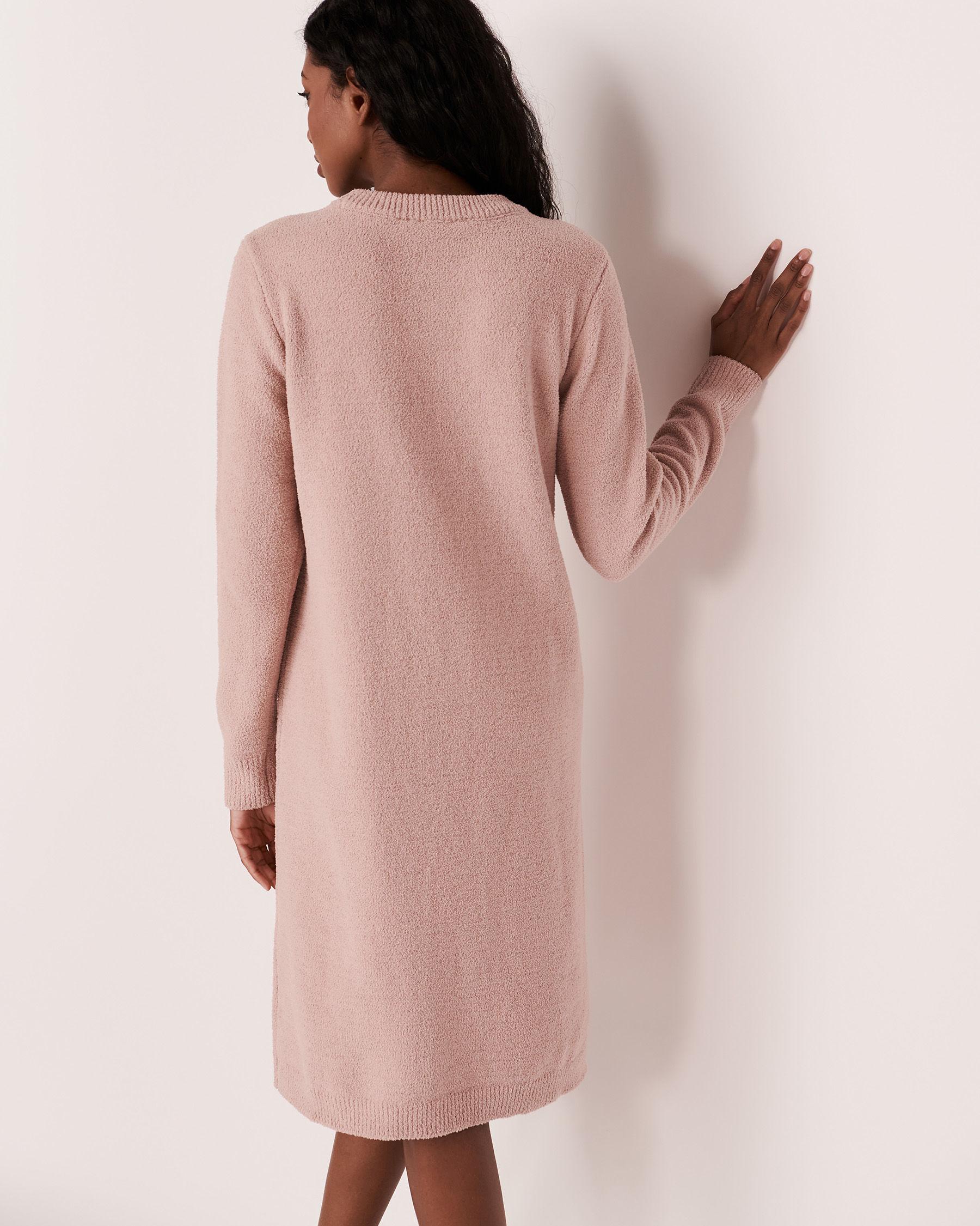 LA VIE EN ROSE Chenille Long Sleeve Dress Shadow grey 50400011 - View6