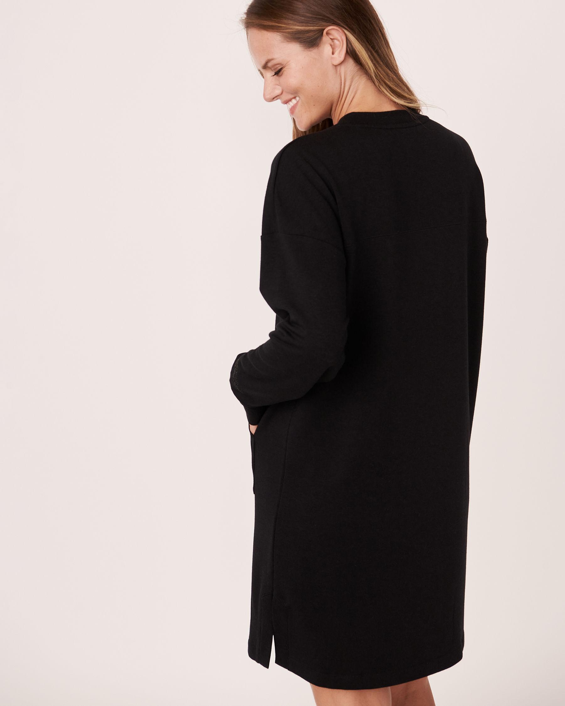 LA VIE EN ROSE Robe manches tombantes Noir 50400010 - Voir2