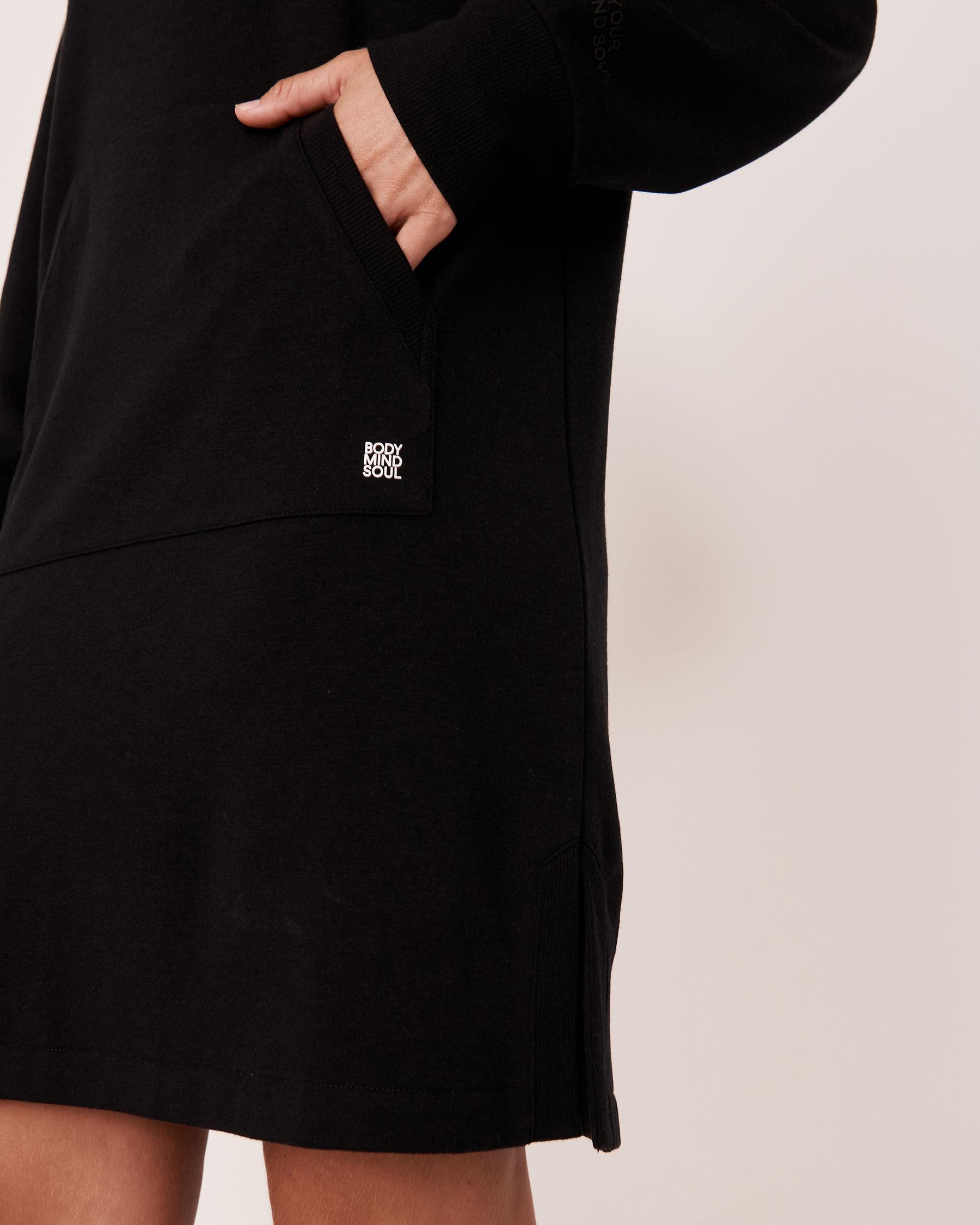 LA VIE EN ROSE Robe manches tombantes Noir 50400010 - Voir3