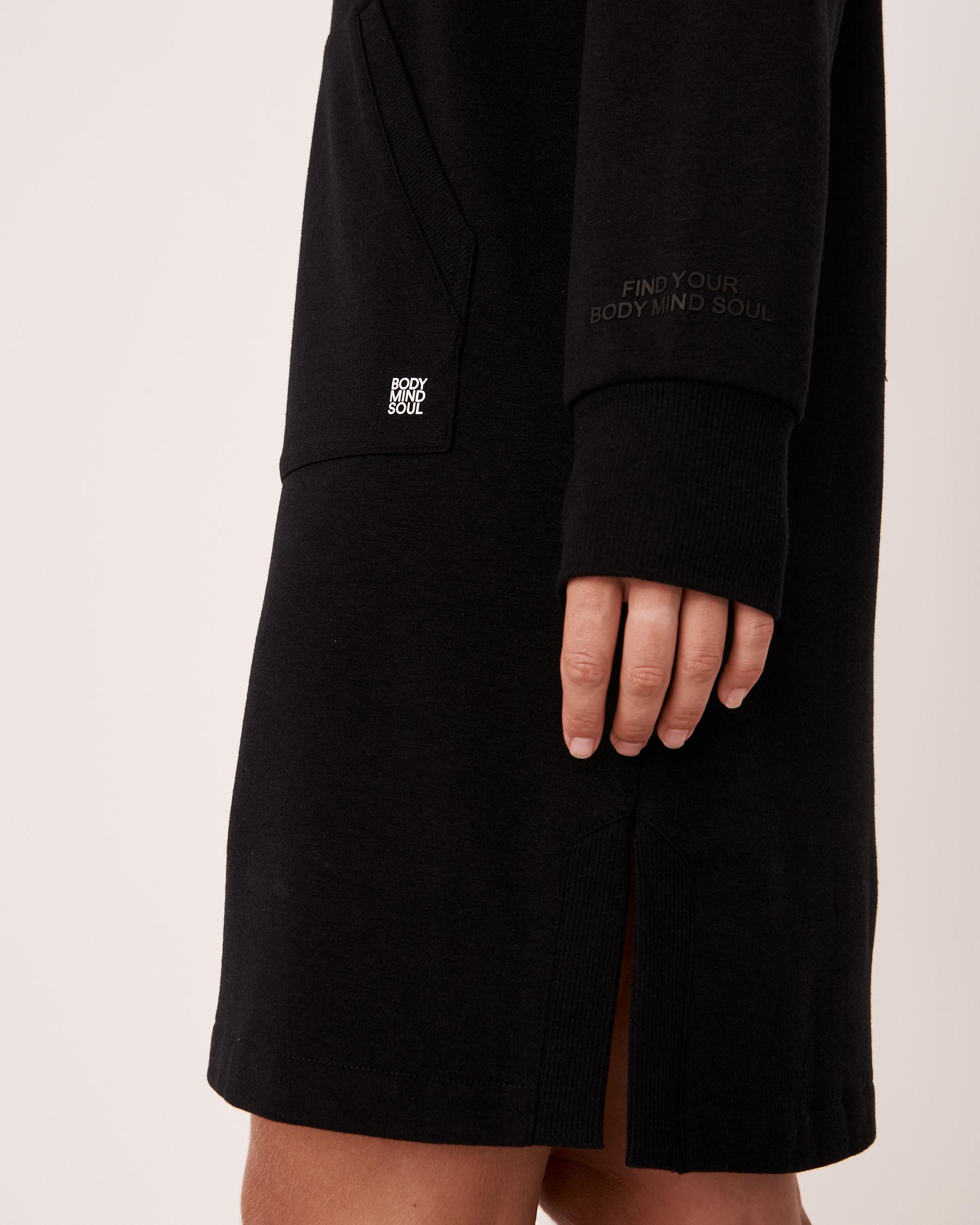 LA VIE EN ROSE Robe manches tombantes Noir 50400010 - Voir4