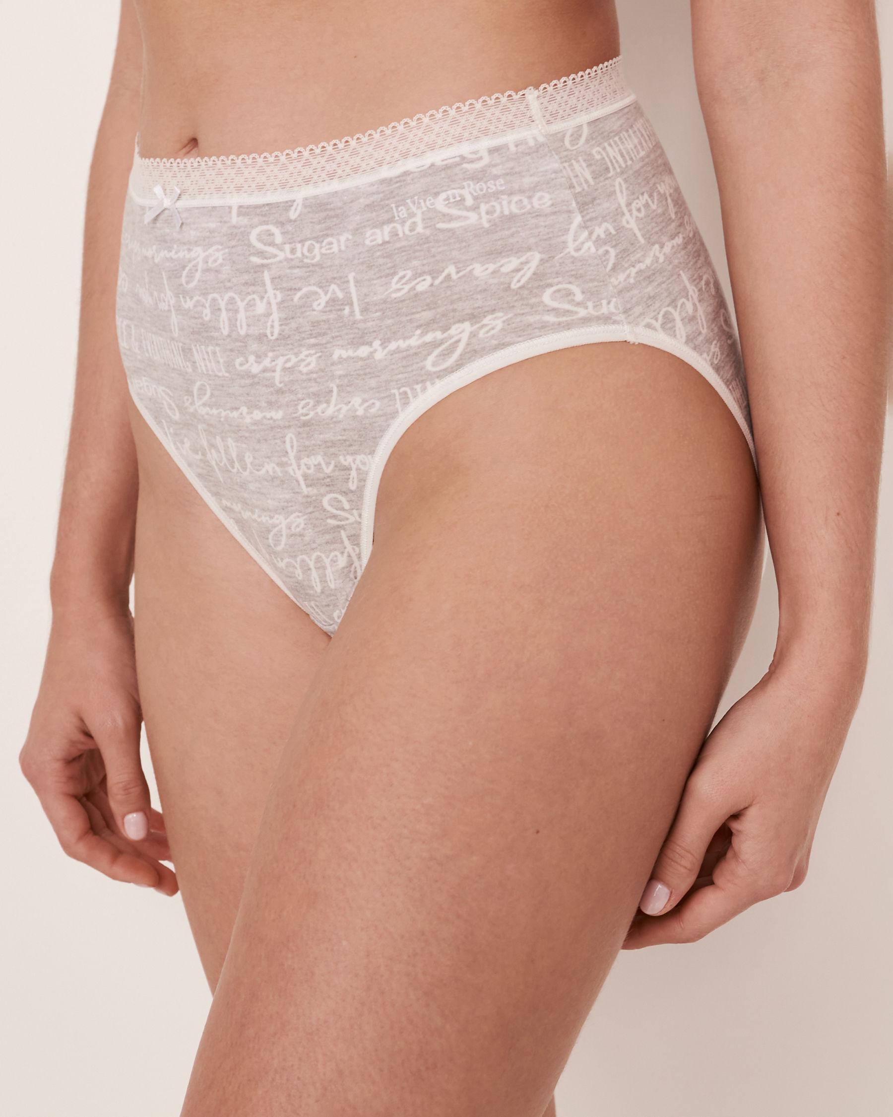LA VIE EN ROSE High Waist Bikini Panty Words 20100059 - View1