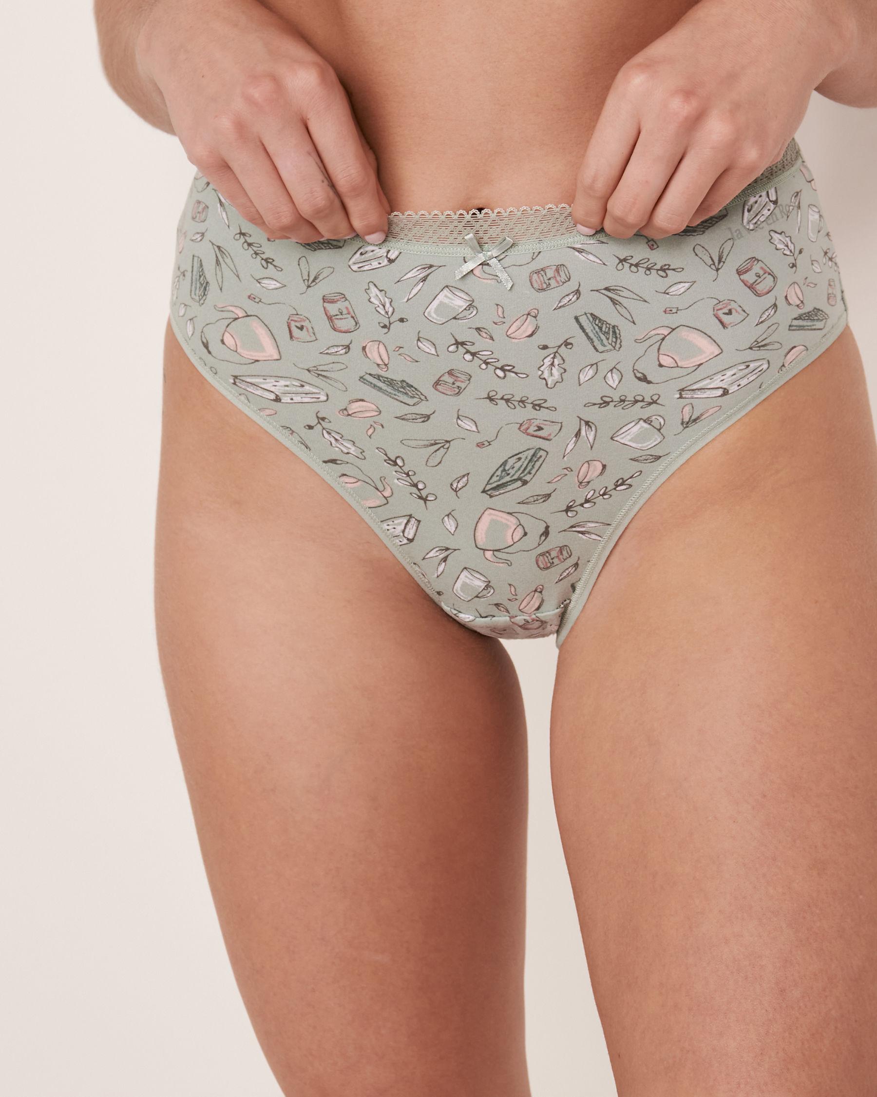 LA VIE EN ROSE High Waist Bikini Panty Fall print 20100059 - View1