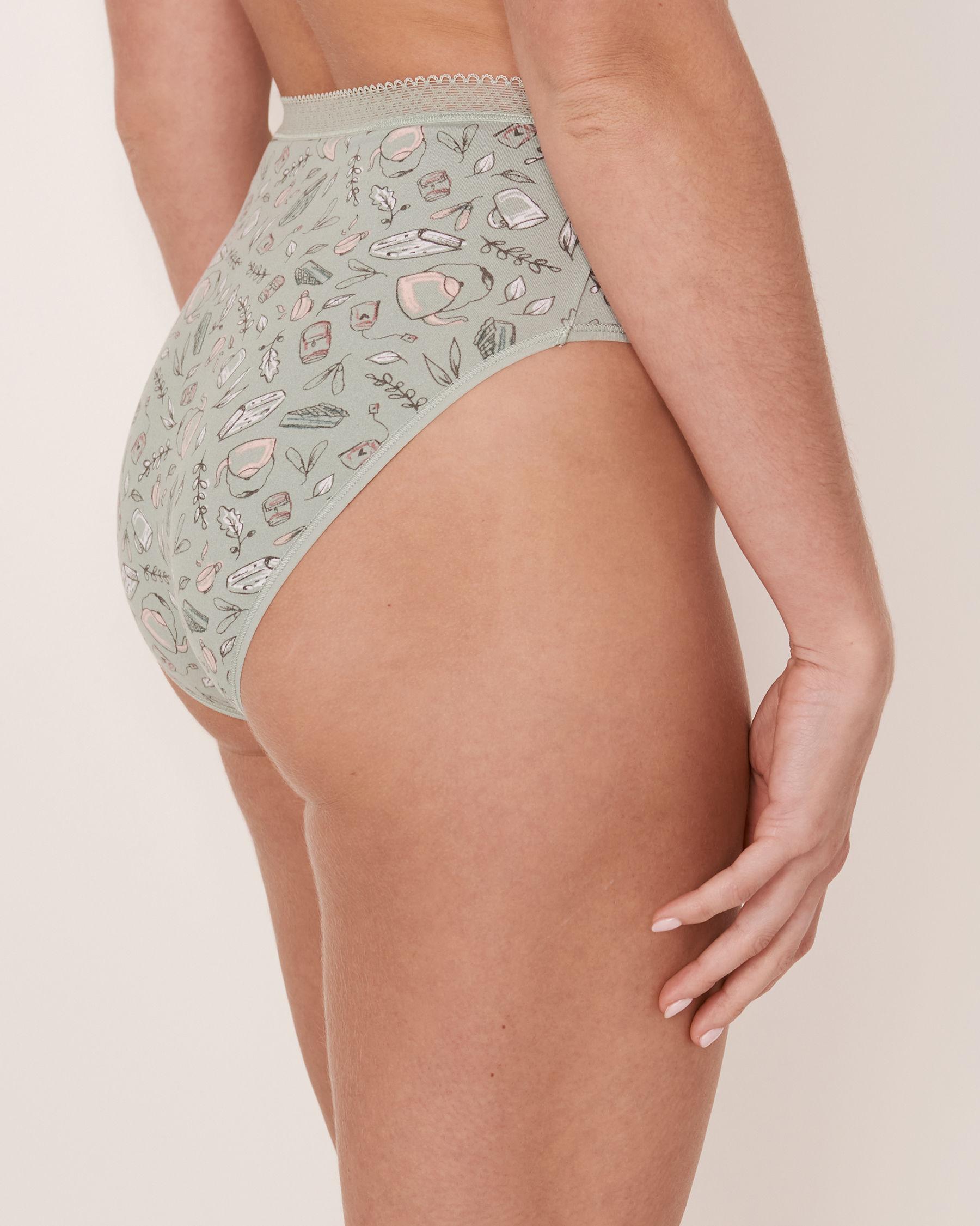 LA VIE EN ROSE High Waist Bikini Panty Fall print 20100059 - View2