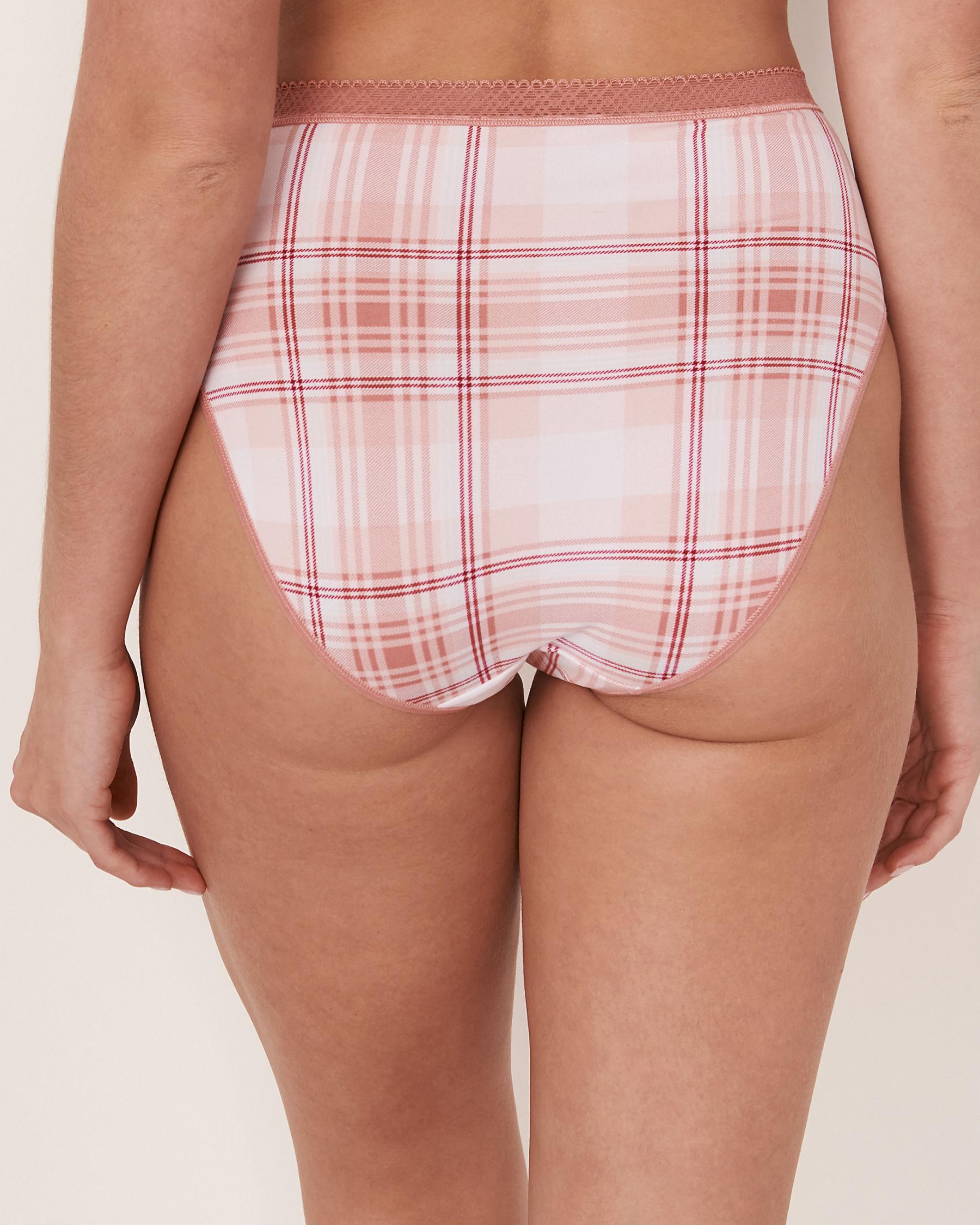 LA VIE EN ROSE High Waist Bikini Panty Plaid 20100059 - View2