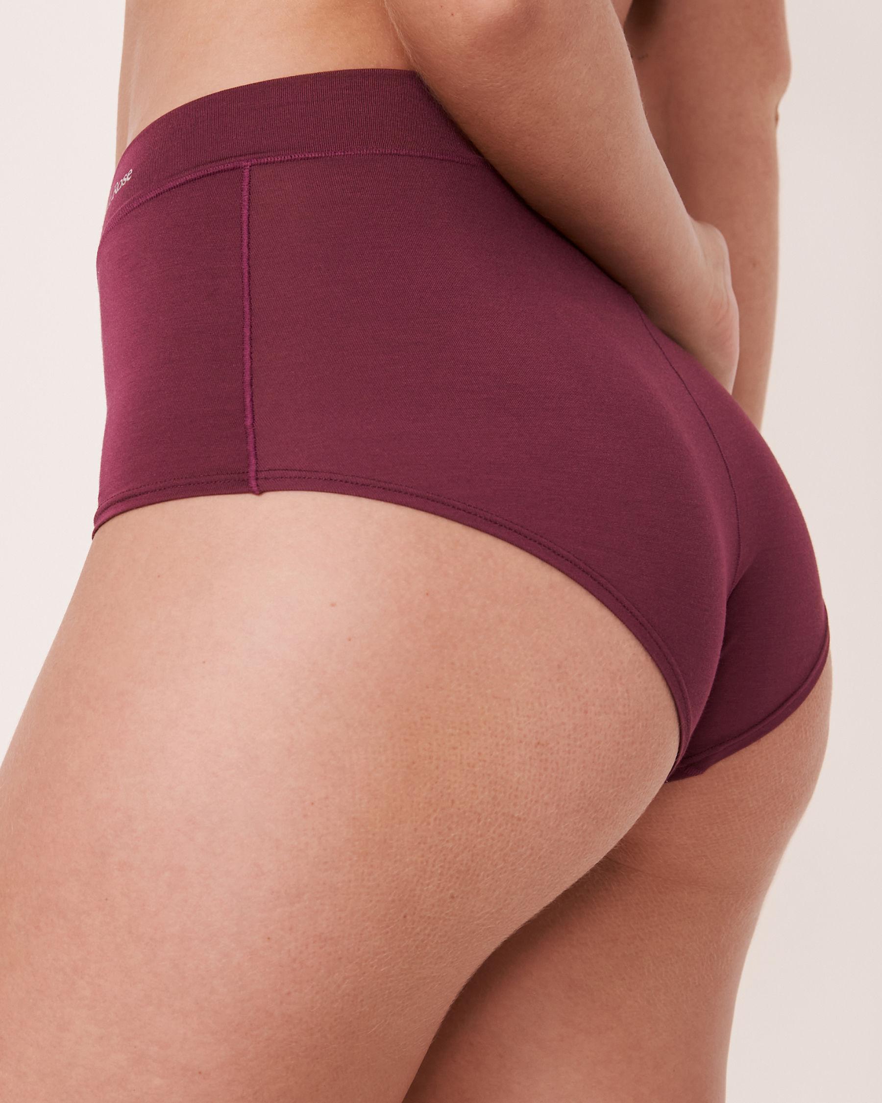 LA VIE EN ROSE High Waist Boyleg Panty Prune 20200076 - View2
