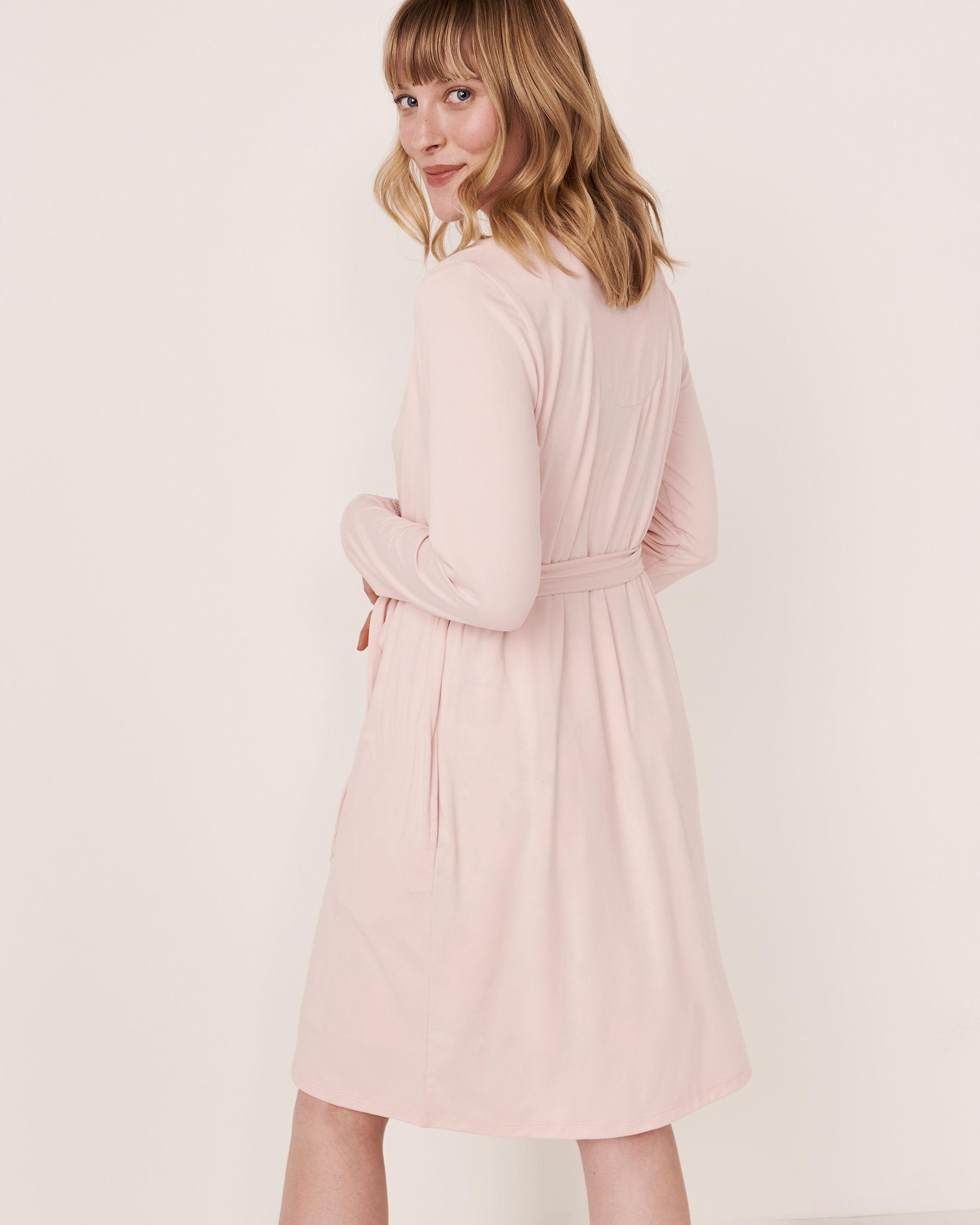 LA VIE EN ROSE Kimono garniture de dentelle Rose pâle 40600018 - Voir2