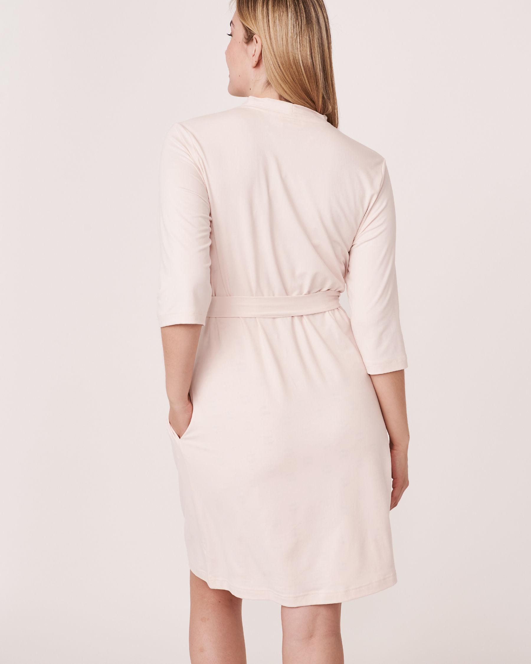 LA VIE EN ROSE Kimono with pockets Soft lilac 40600008 - View3