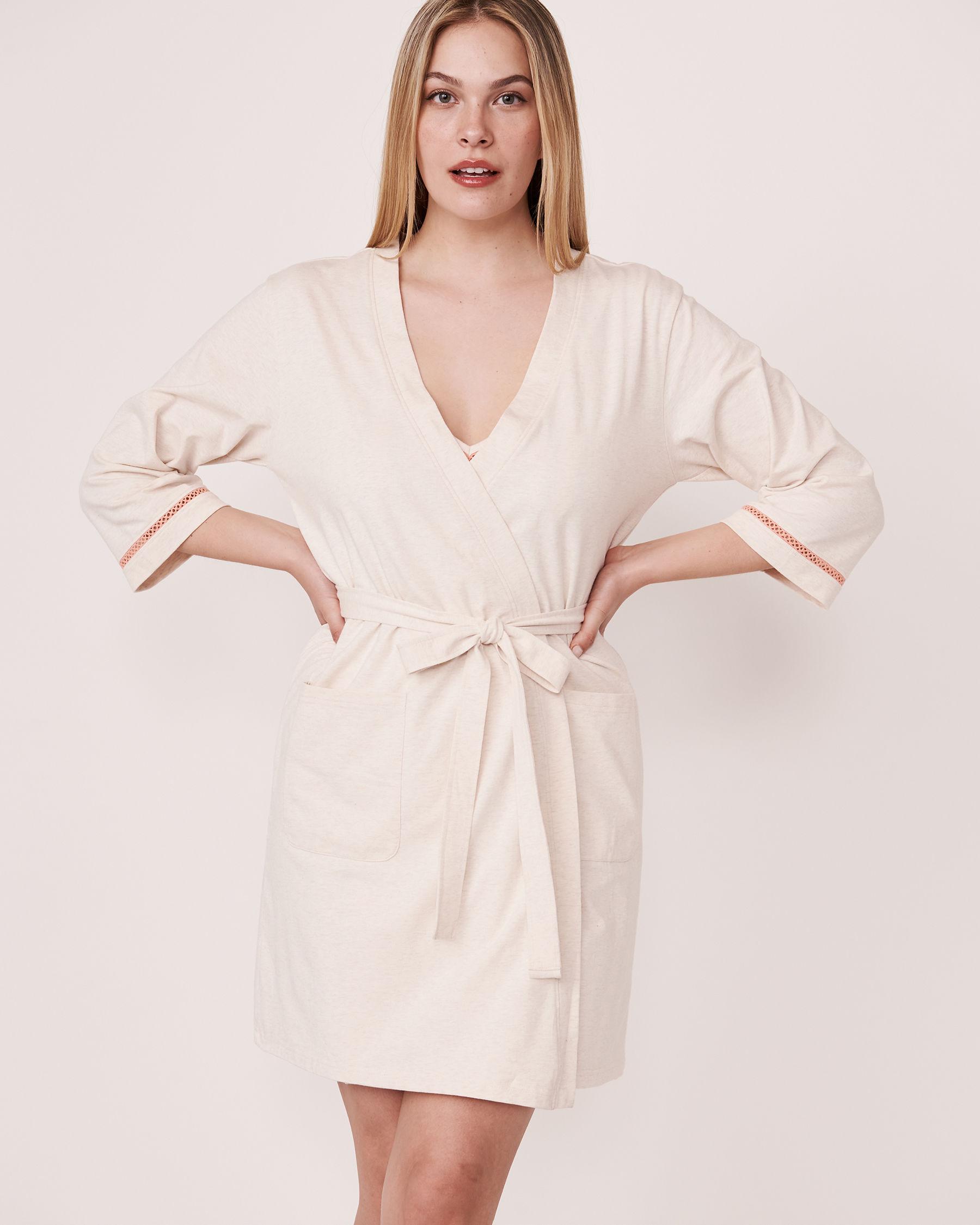 LA VIE EN ROSE Organic Cotton Kimono Grey mix 40600009 - View1