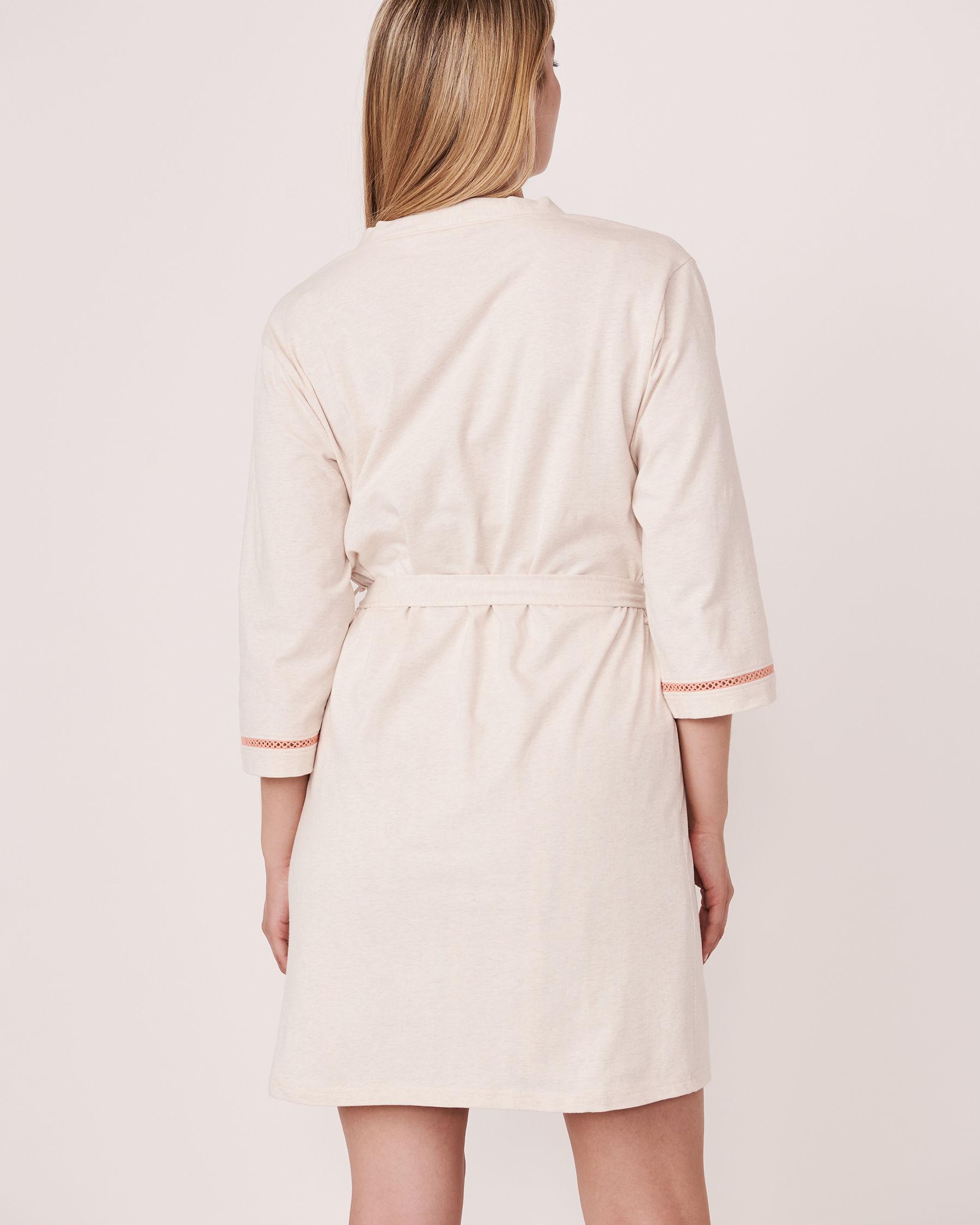 LA VIE EN ROSE Organic Cotton Kimono Grey mix 40600009 - View2