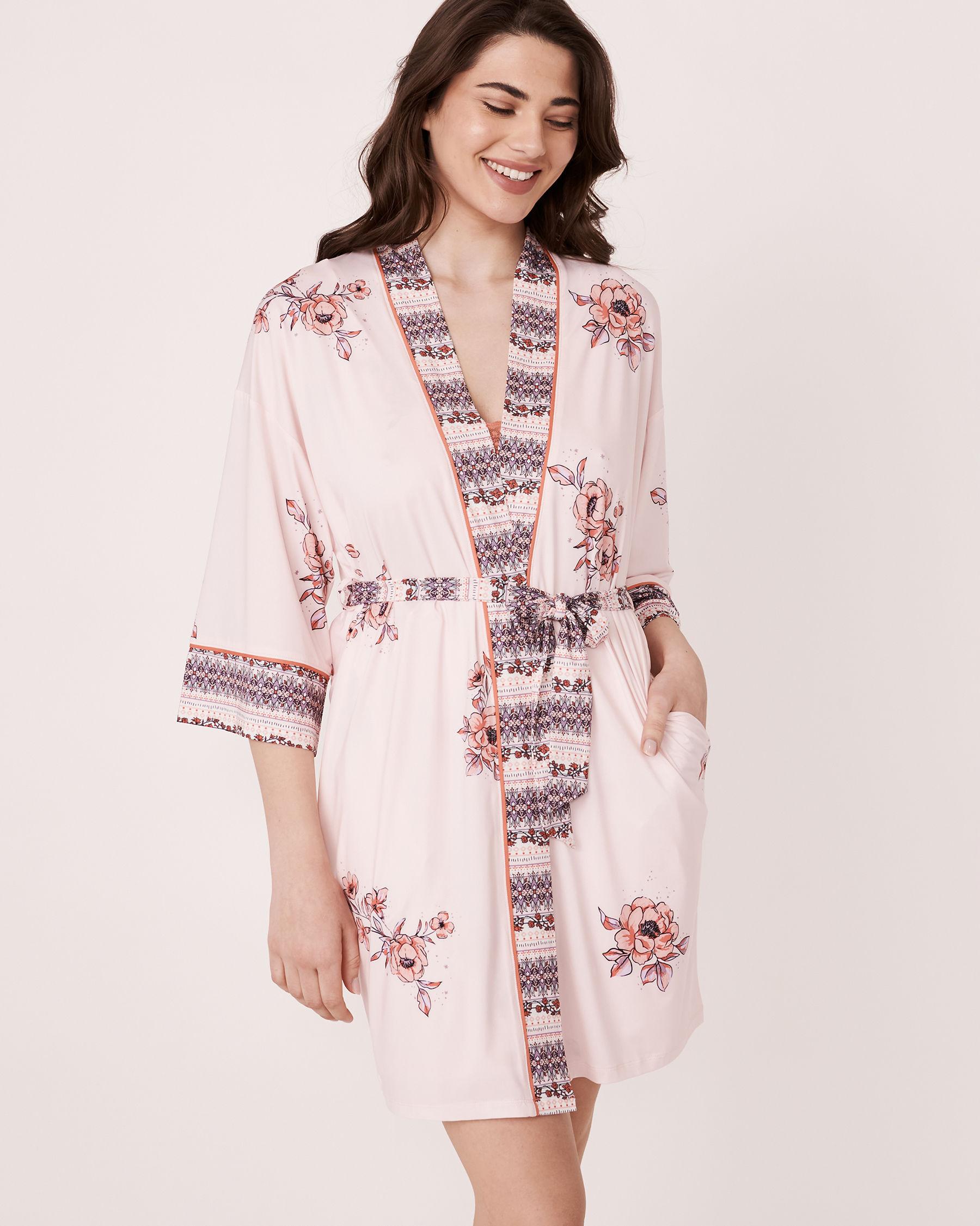 LA VIE EN ROSE Recycled Fibers Kimono Floral print 40600011 - View1