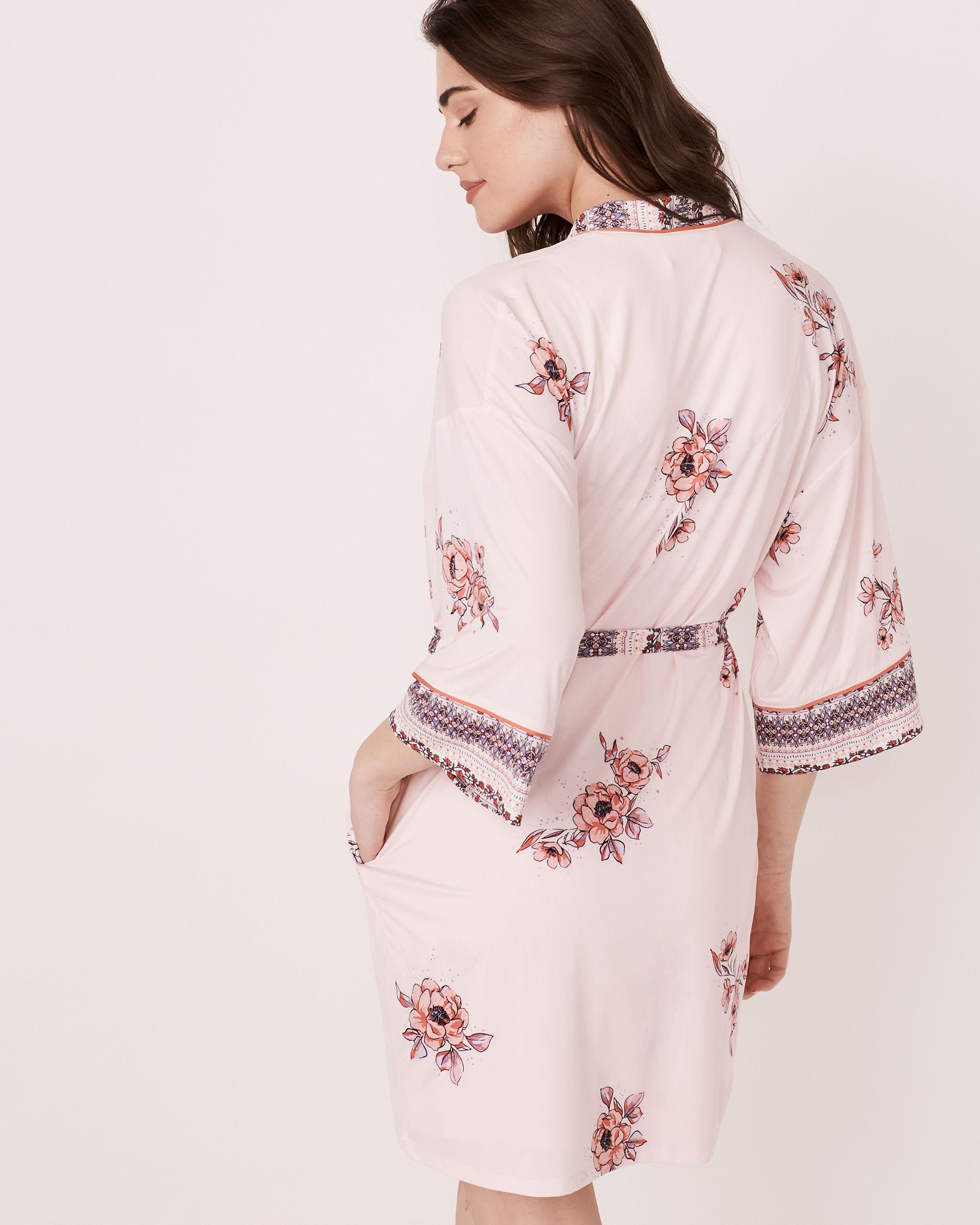 LA VIE EN ROSE Recycled Fibers Kimono Floral print 40600011 - View2