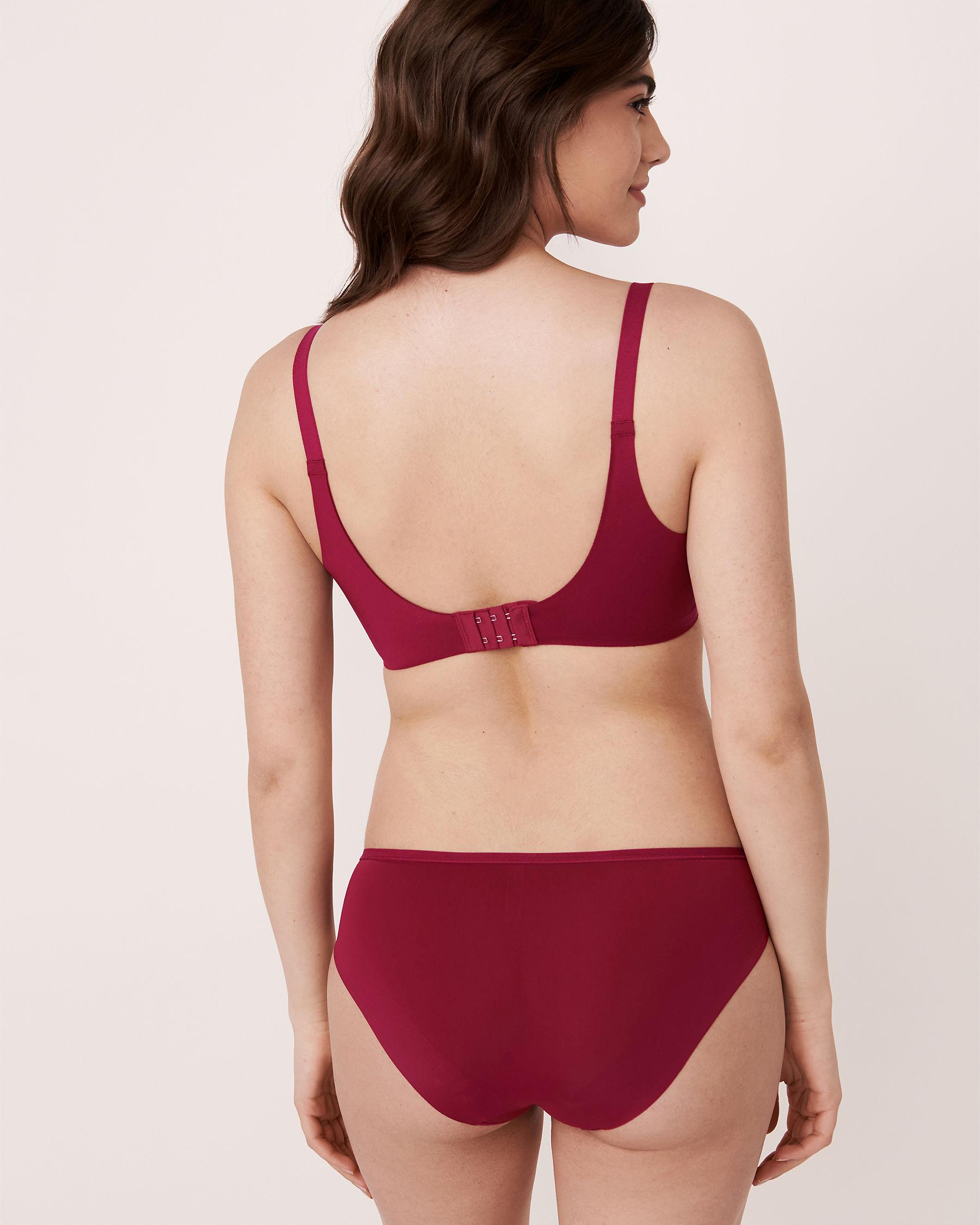 LA VIE EN ROSE Lightly Lined Sleek Back Bra Flower embroidery 10200037 - View3