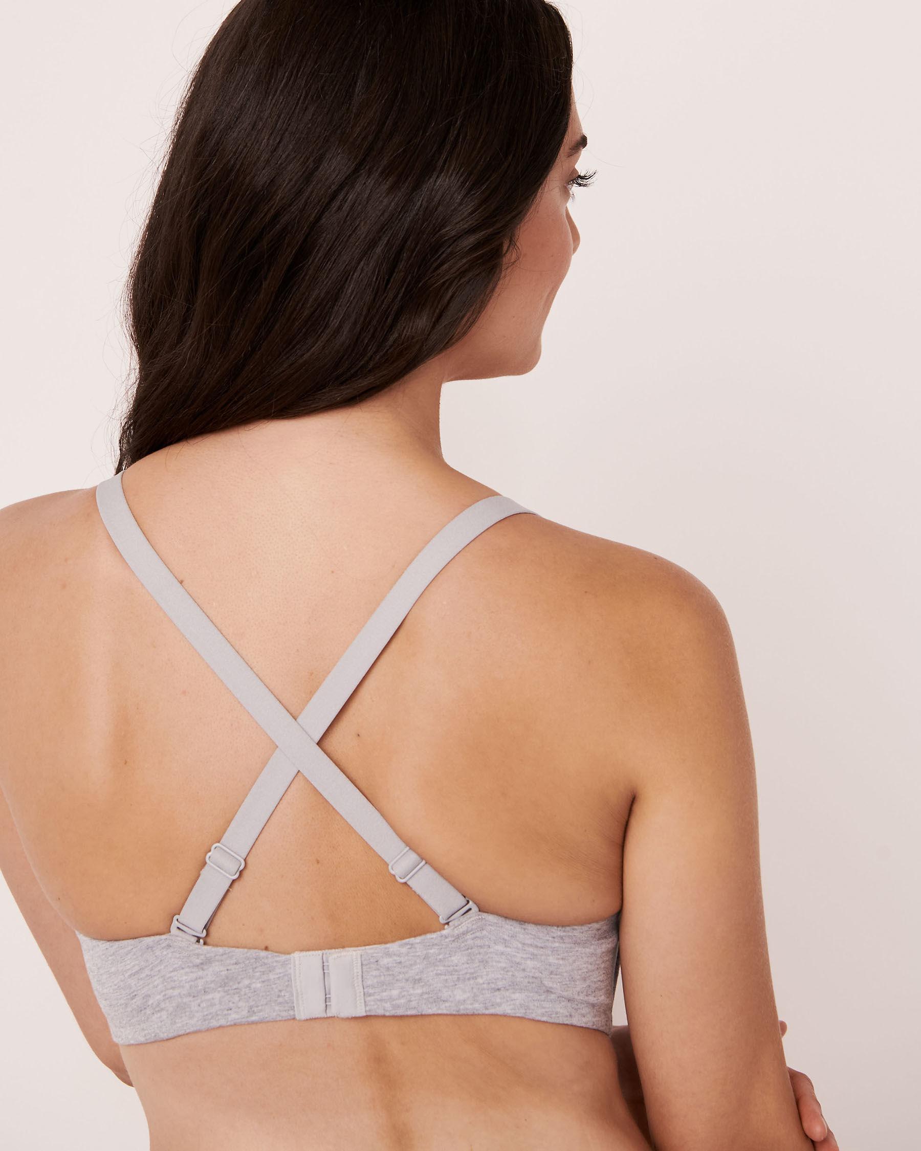 LA VIE EN ROSE Nursing Lightly Lined Wireless Cotton Bra Grey mix 10200042 - View5