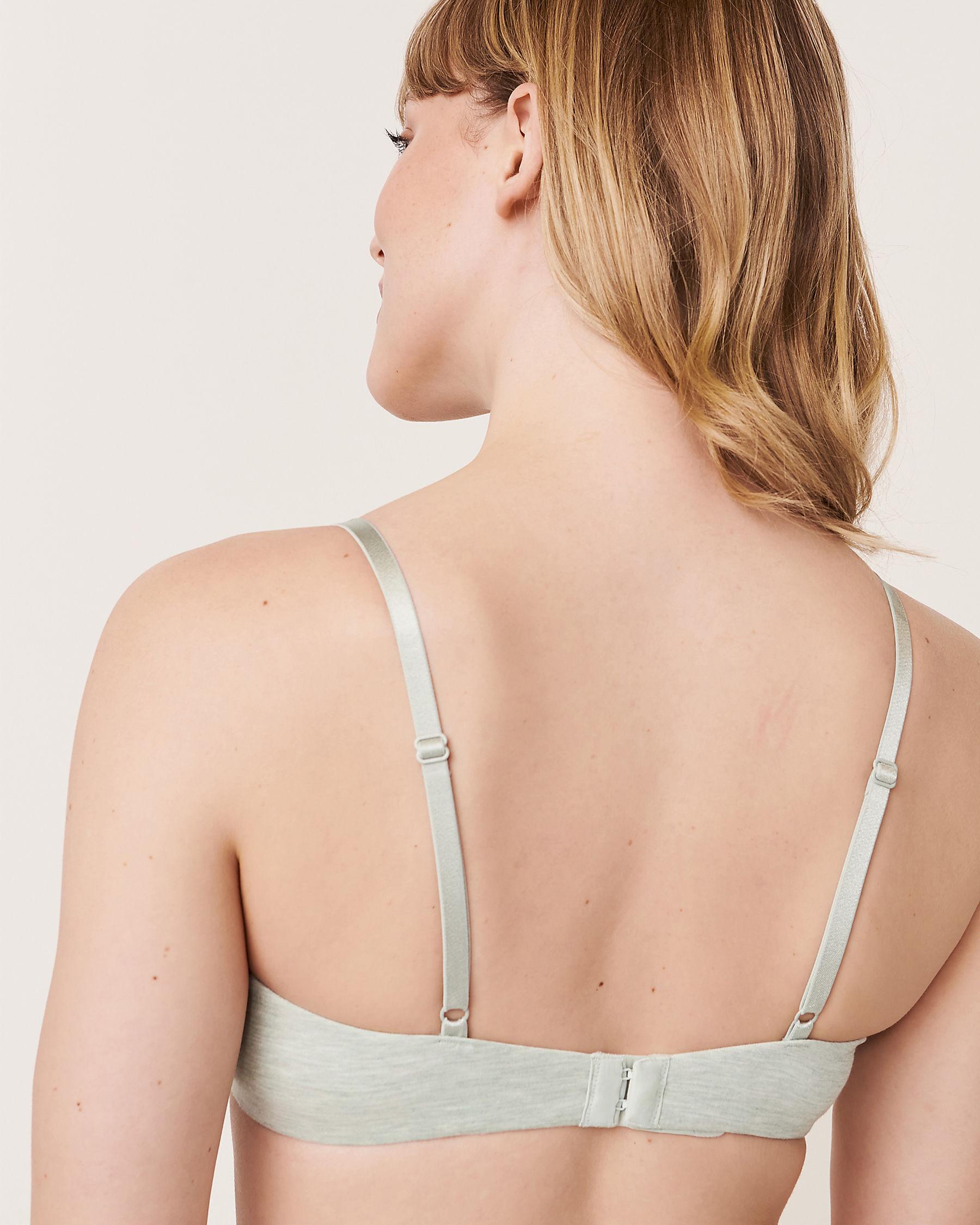 LA VIE EN ROSE Lightly Lined Demi Modal Bra Grey-blue 10200050 - View2