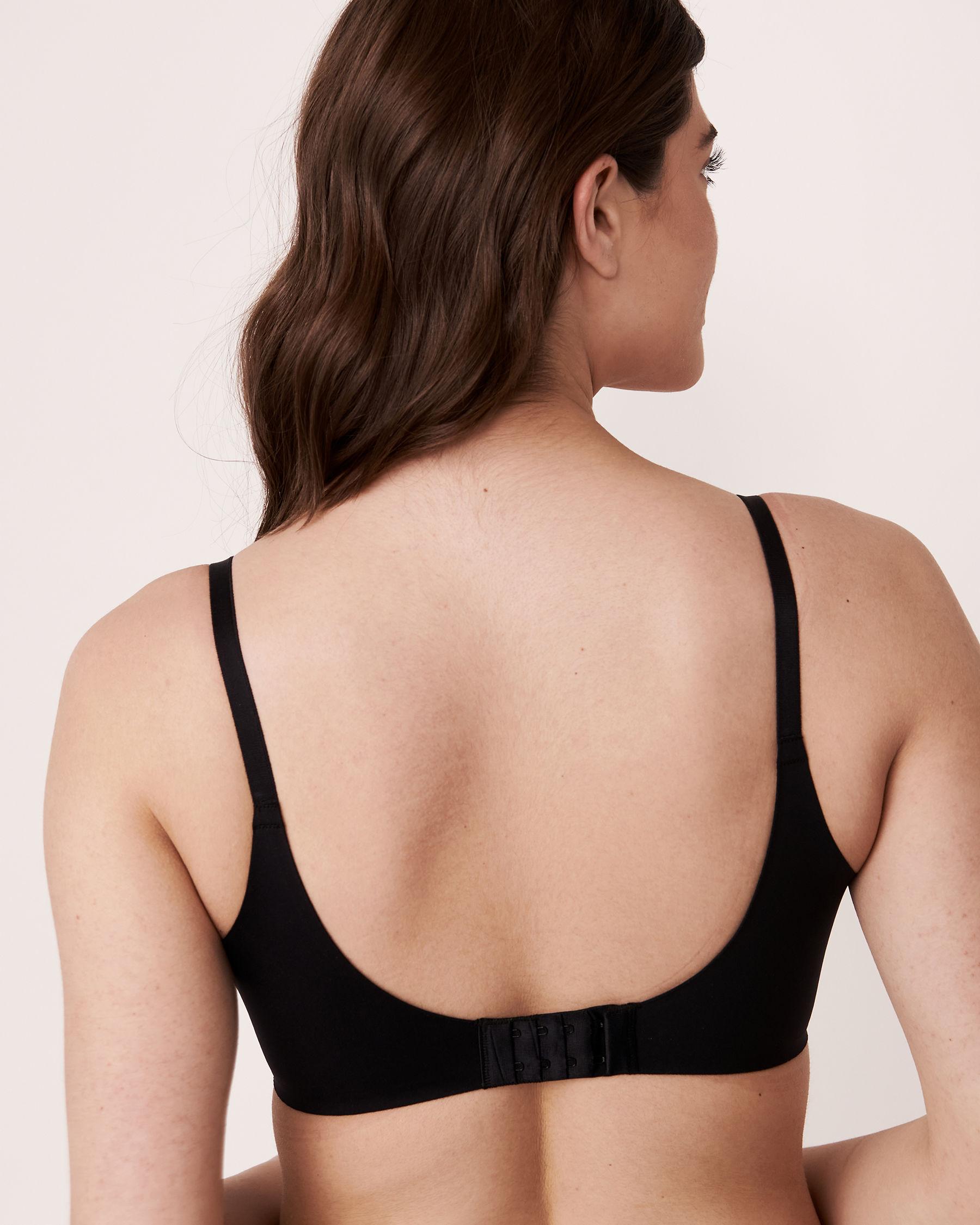 LA VIE EN ROSE Lightly Lined Wireless Sleek Back Bra Black 169-113-2-00 - View2