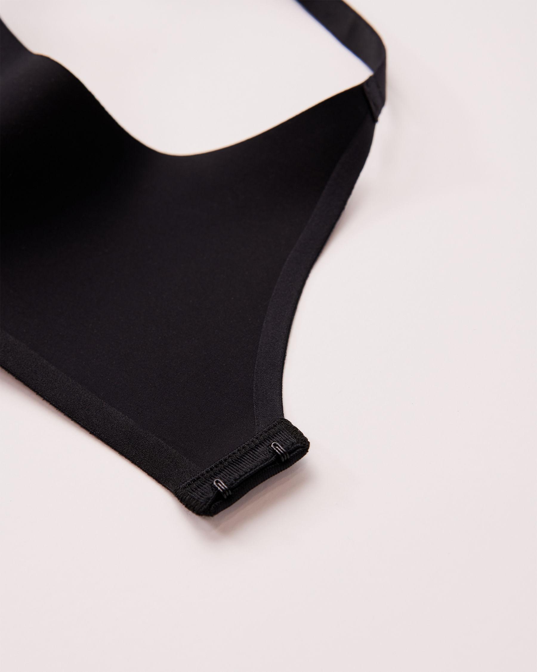 LA VIE EN ROSE Lightly Lined Wireless Sleek Back Bra Black 169-113-2-00 - View6