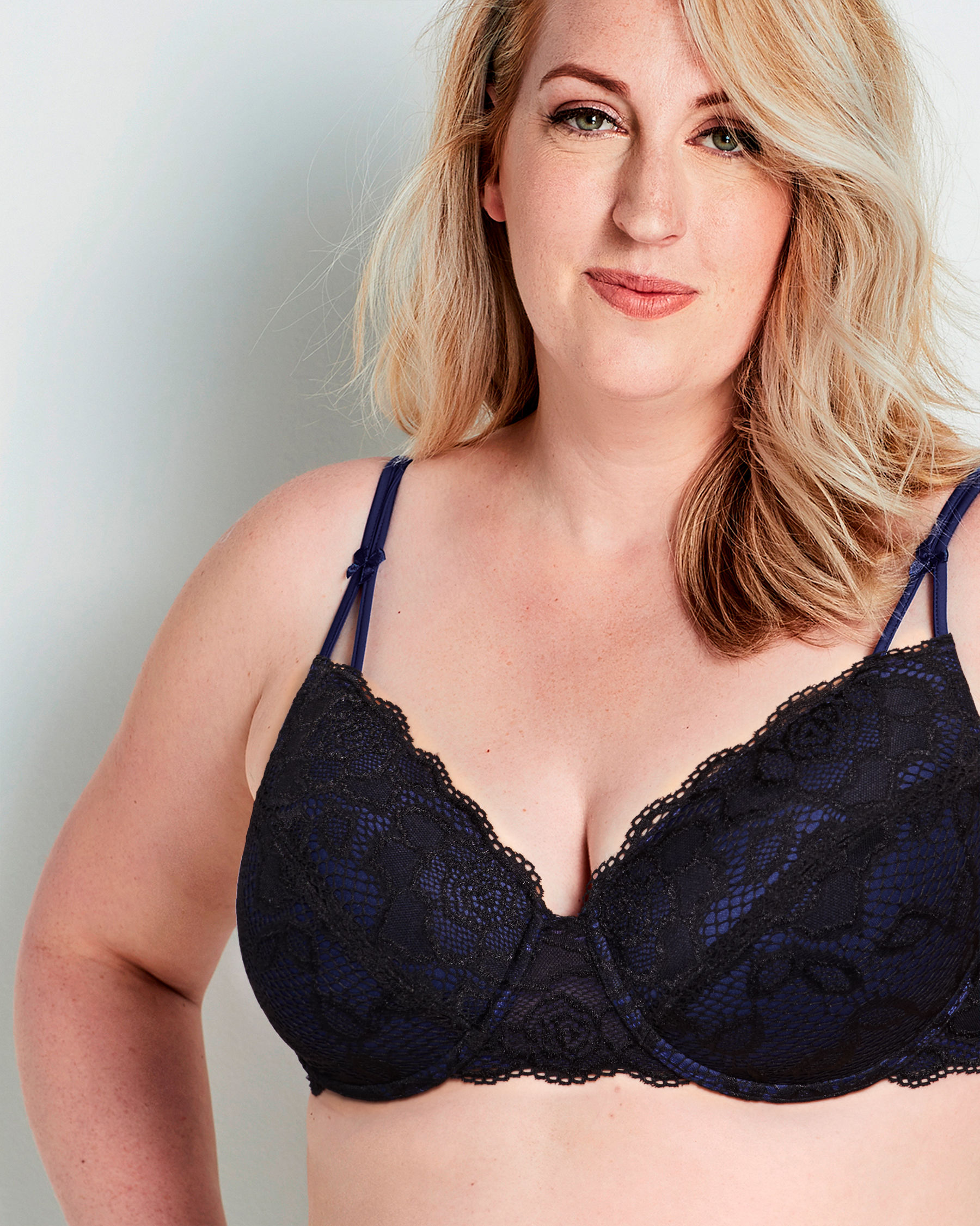 LA VIE EN ROSE Muse Lightly Lined Mastectomy Bra Black 389-110-0-98 - View1