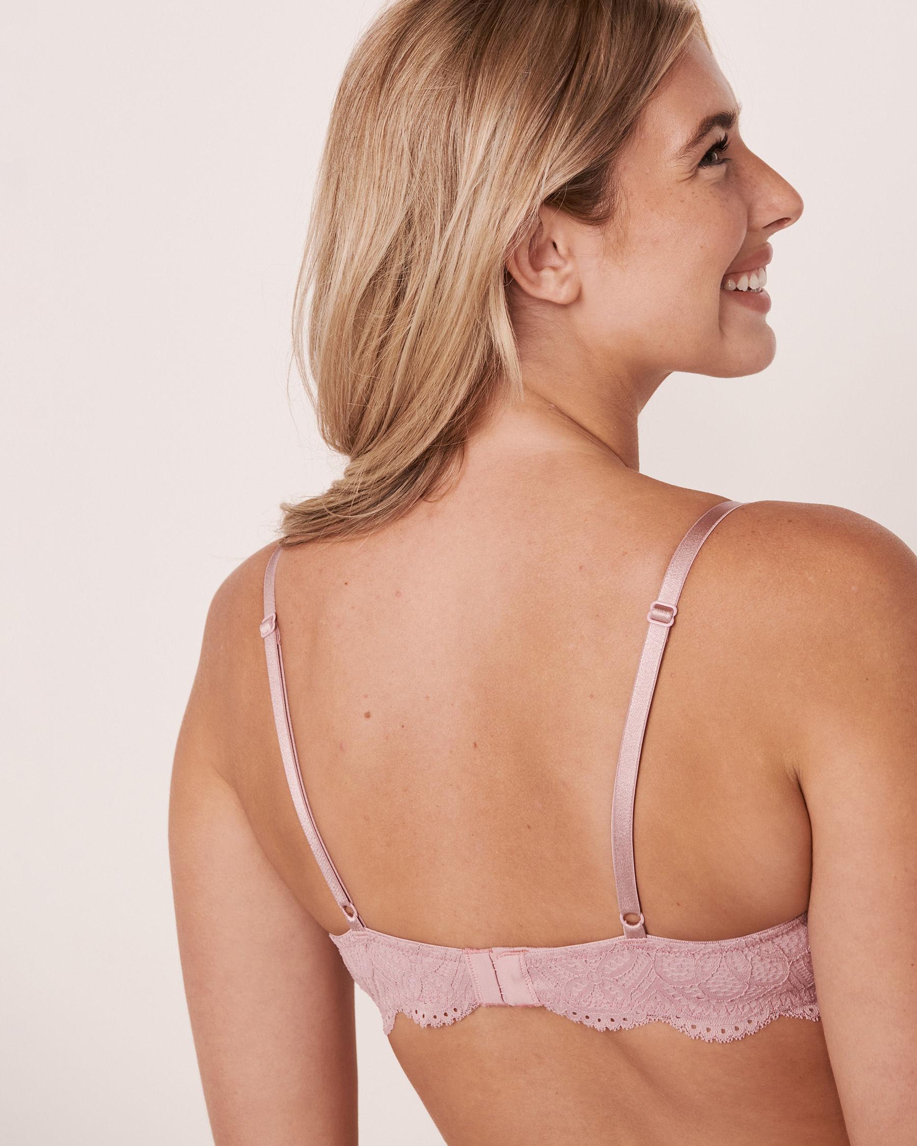 LA VIE EN ROSE Lightly Lined Demi Bra Pink shadows 10200069 - View6