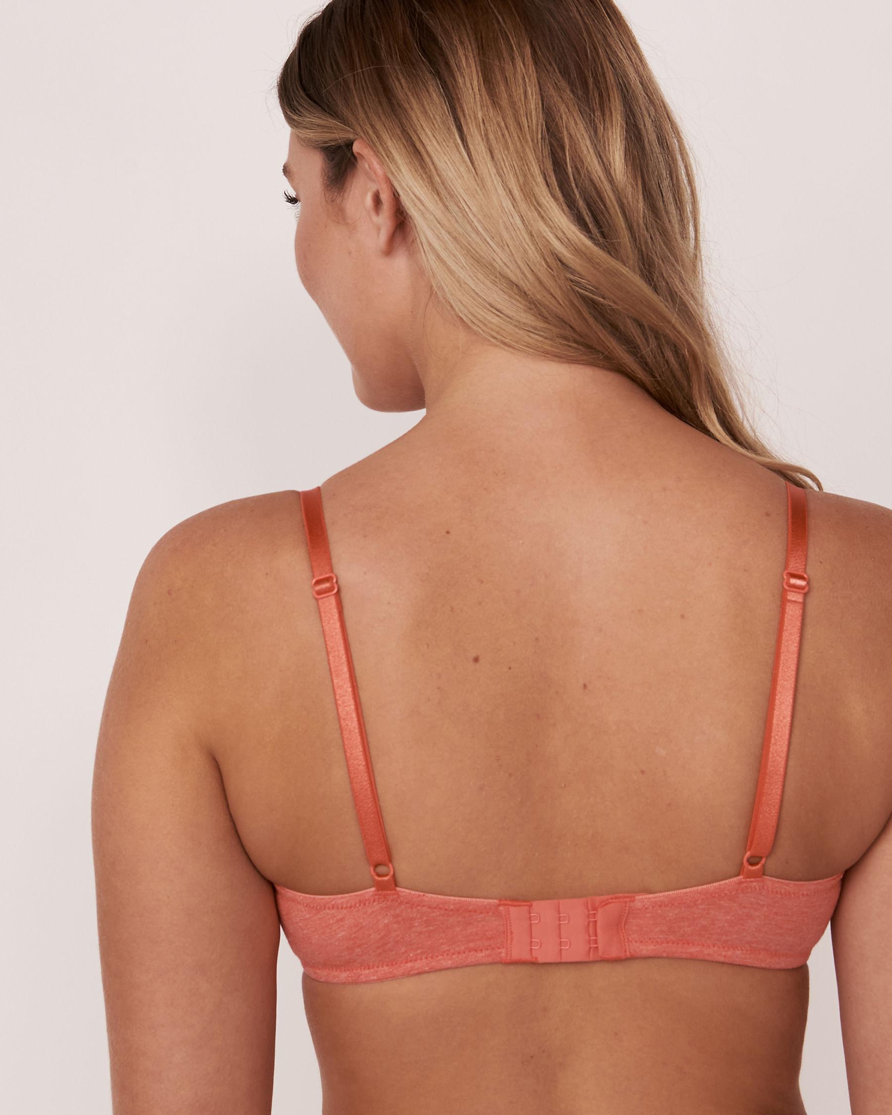 LA VIE EN ROSE Lightly Lined Demi Cotton Bra Pink mix 10200012 - View2