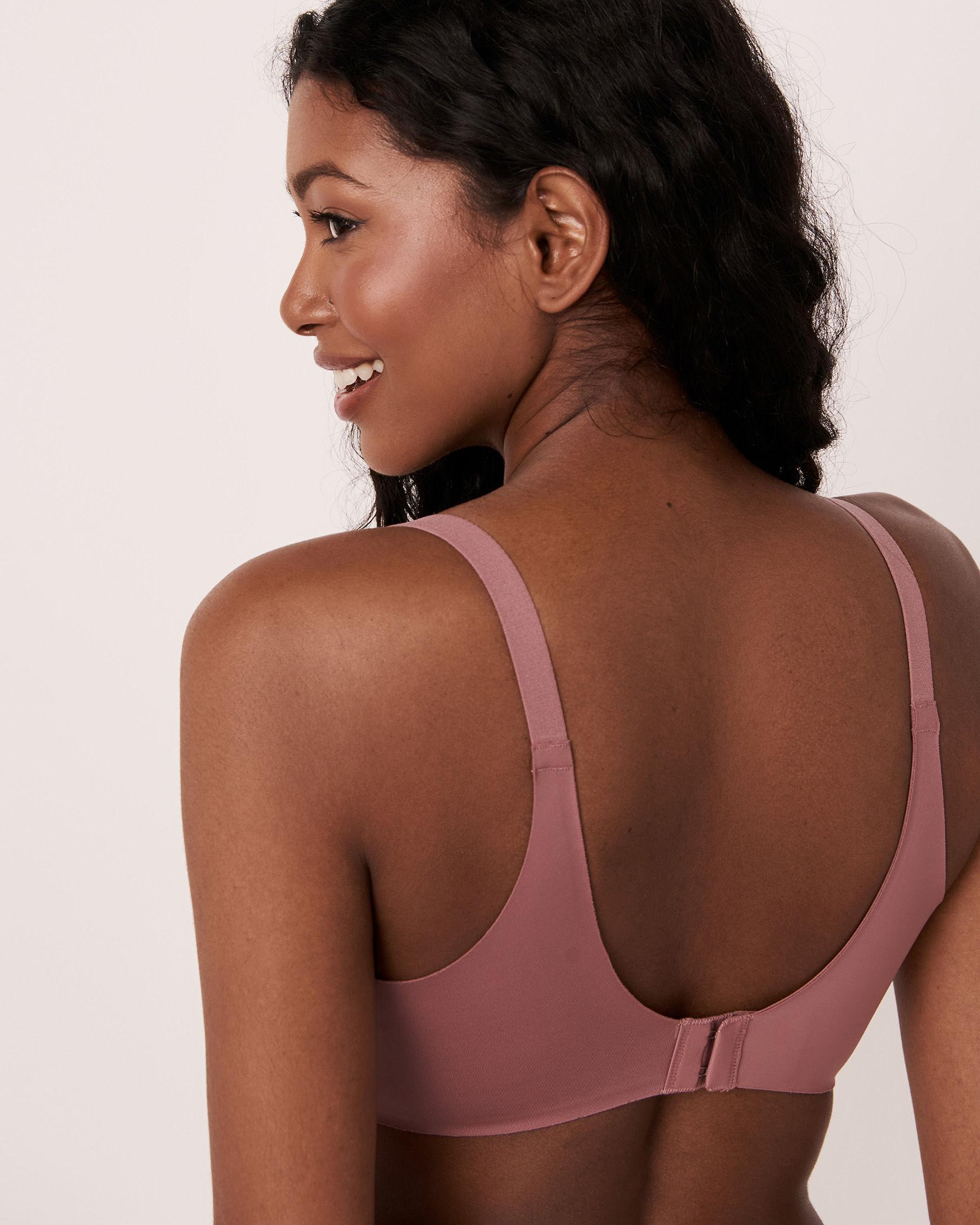 LA VIE EN ROSE Lightly Lined Sleek Back Bra Old pink 10200072 - View2