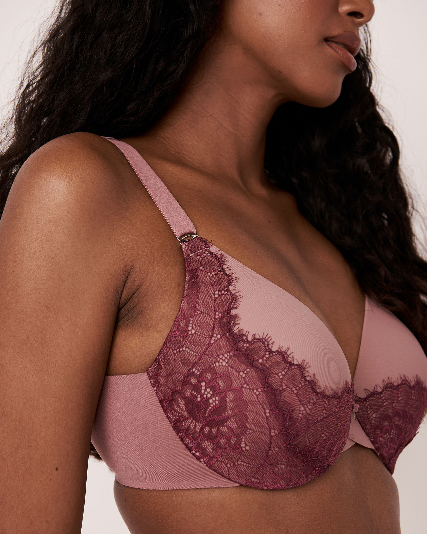 LA VIE EN ROSE Lightly Lined Sleek Back Bra Old pink 10200072 - View3