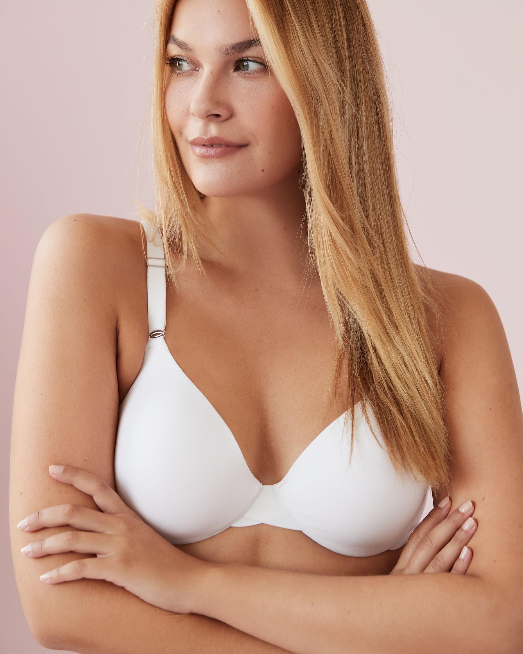 LA VIE EN ROSE Lightly Lined Sleek Back Bra White 169-113-1-00 - View7