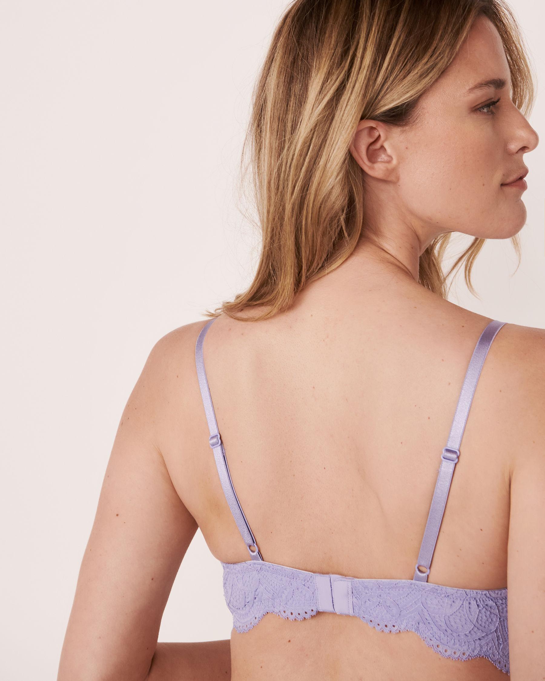 LA VIE EN ROSE Lightly Lined Wireless Bra Lavender 10200070 - View2