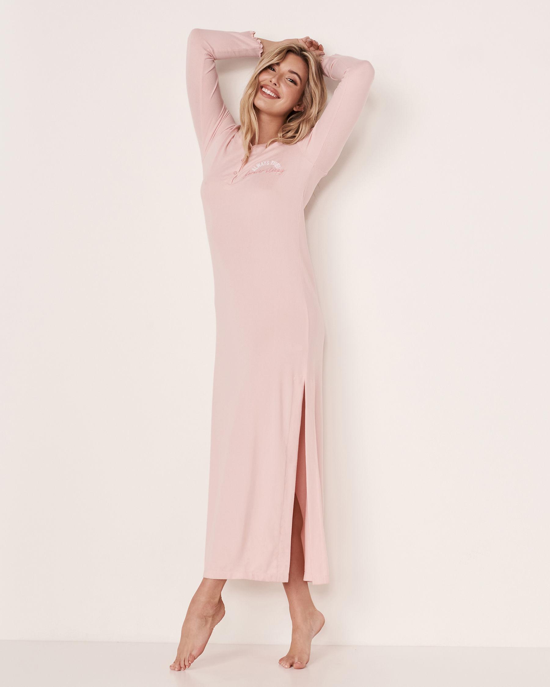 LA VIE EN ROSE Recycled Fibers Maxi Sleepshirt Light pink 40500068 - View1